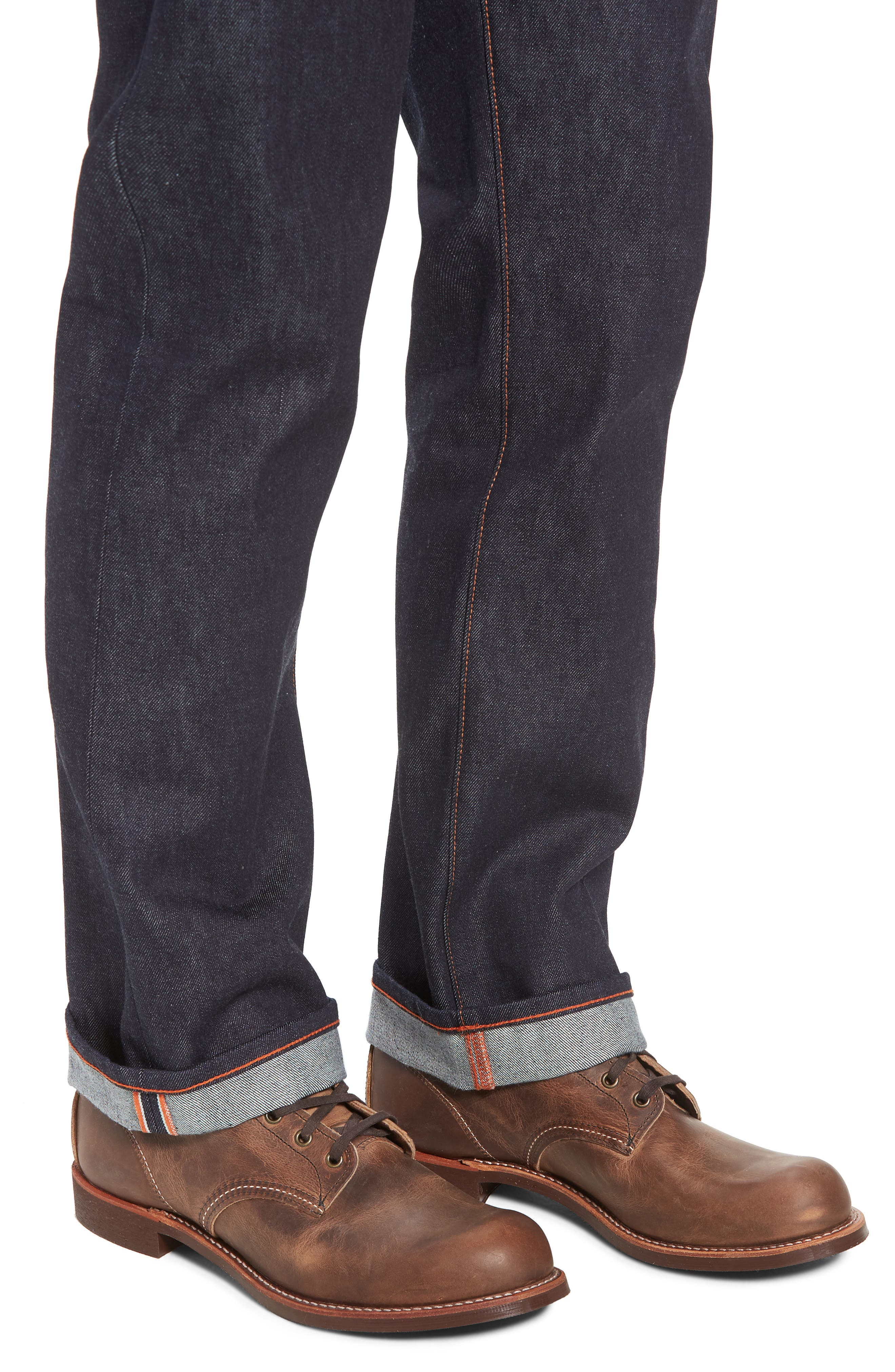 Rocker Straight Leg Jeans,                             Alternate thumbnail 4, color,                             Raw