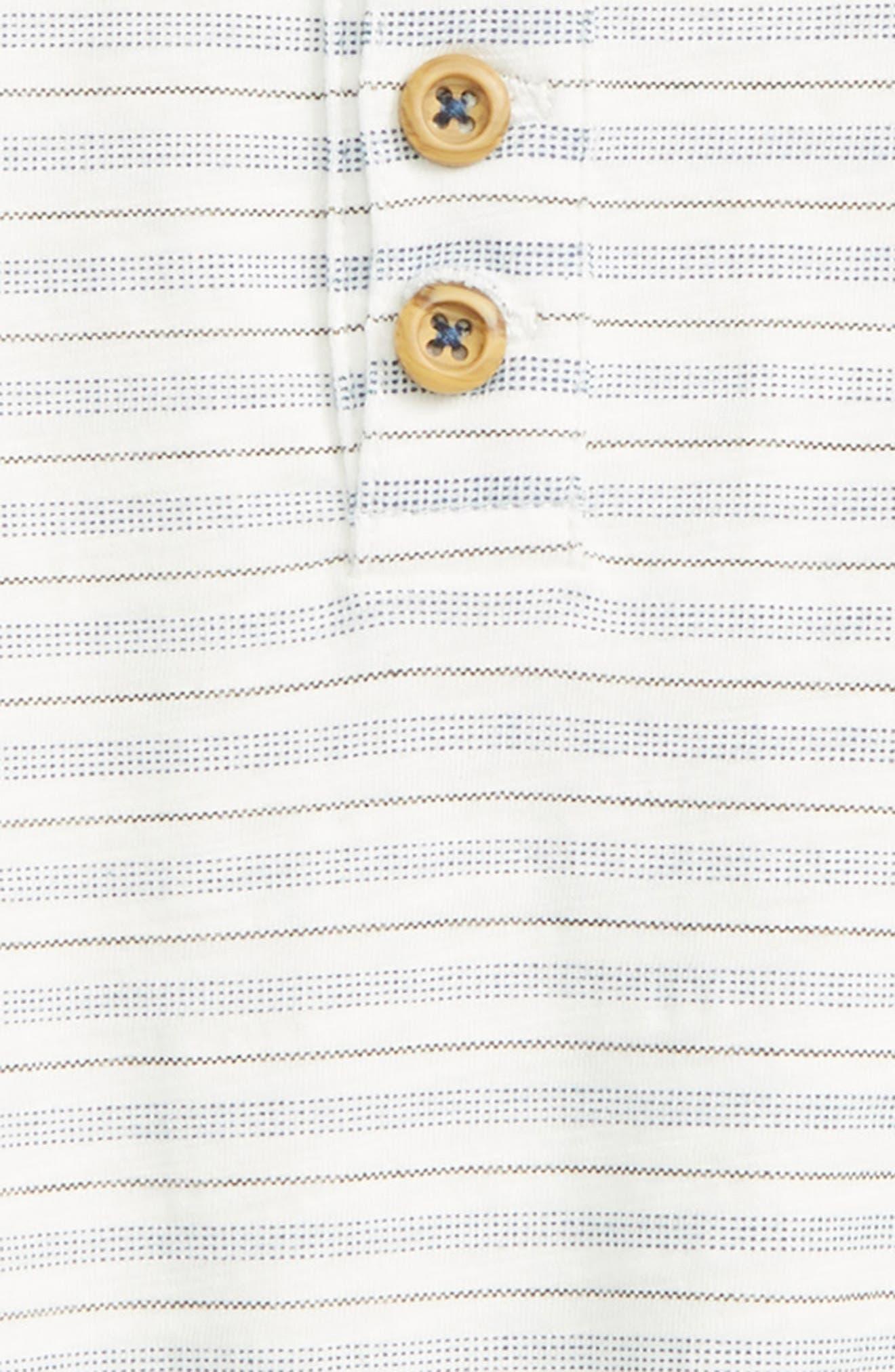 Peek Stripe Henley Top,                             Alternate thumbnail 2, color,                             White