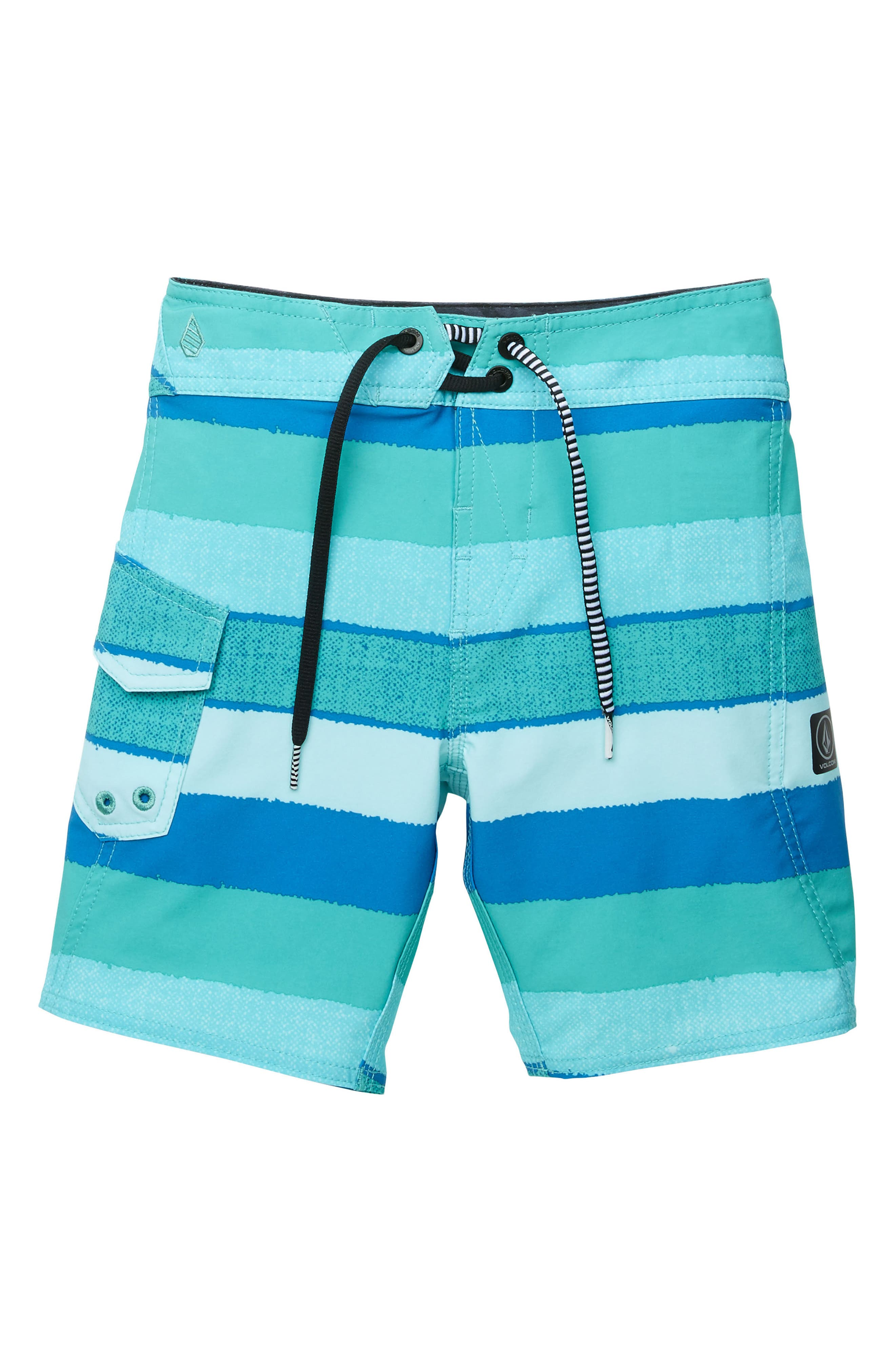 Magnetic Liney Mod Board Shorts,                         Main,                         color, Turquoise