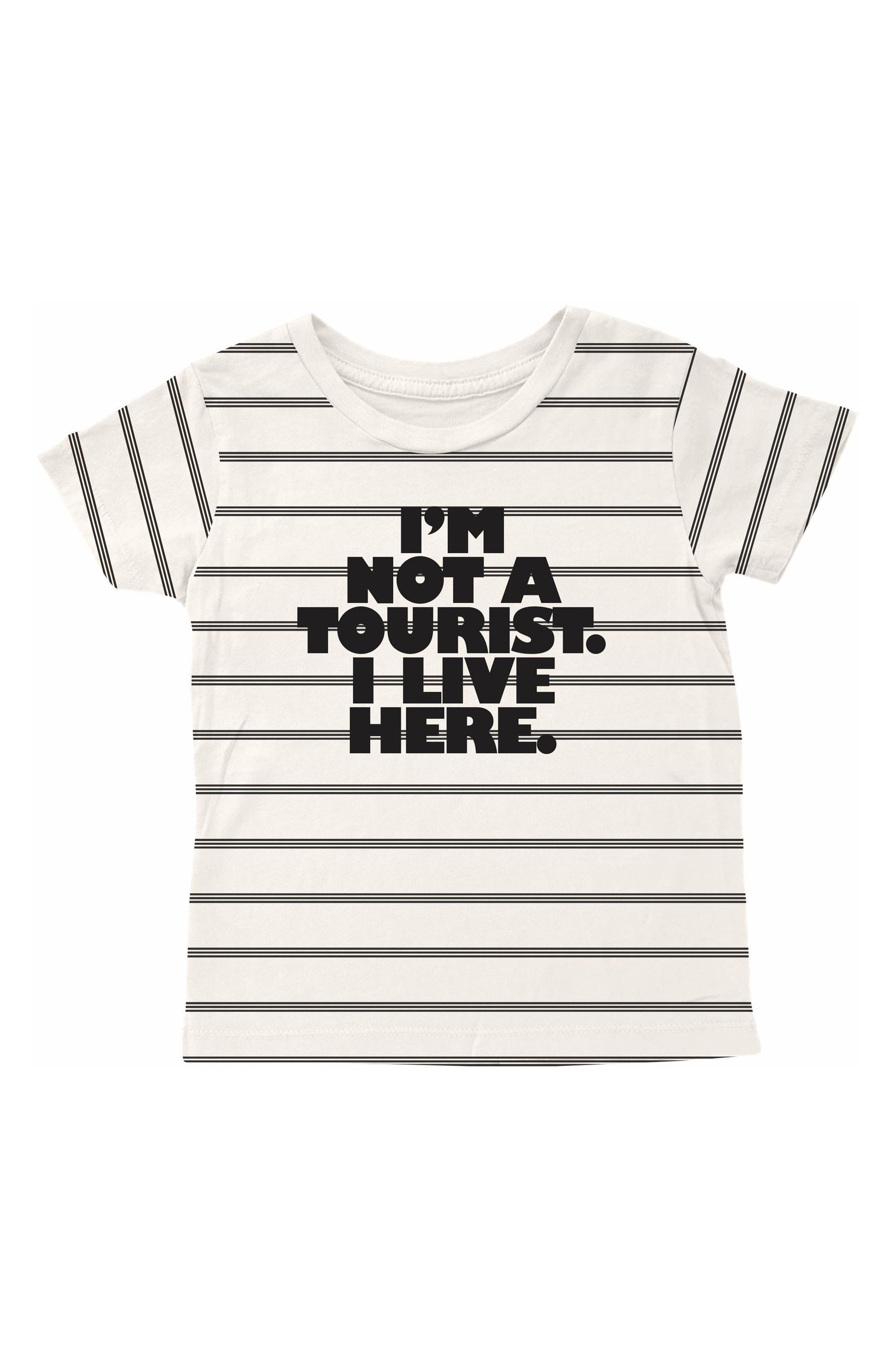 Not a Tourist T-Shirt,                         Main,                         color, Natural