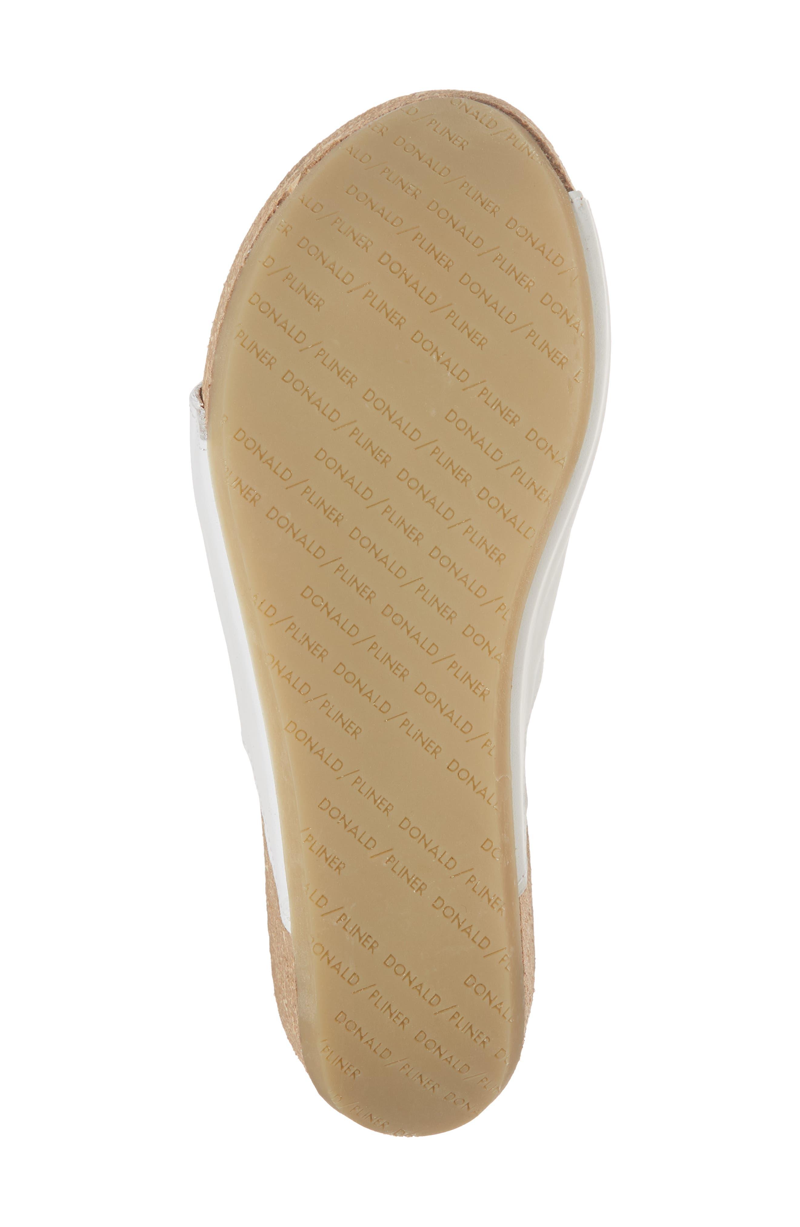 Donald J Pliner Ginie Platform Wedge Sandal,                             Alternate thumbnail 6, color,                             Bone Leather