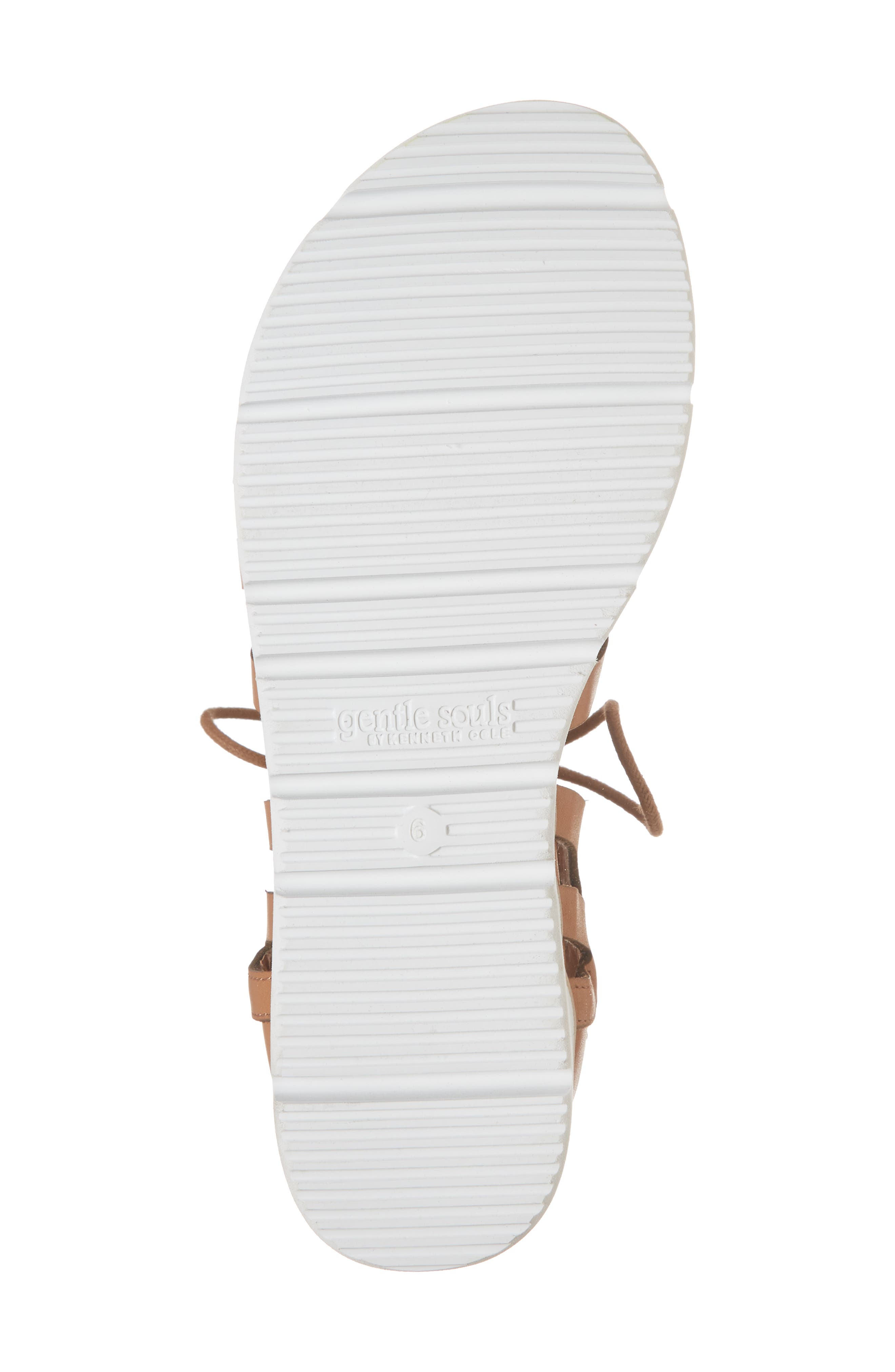 by Kenneth Cole Larina Lace-Up Sandal,                             Alternate thumbnail 6, color,                             Tan Leather