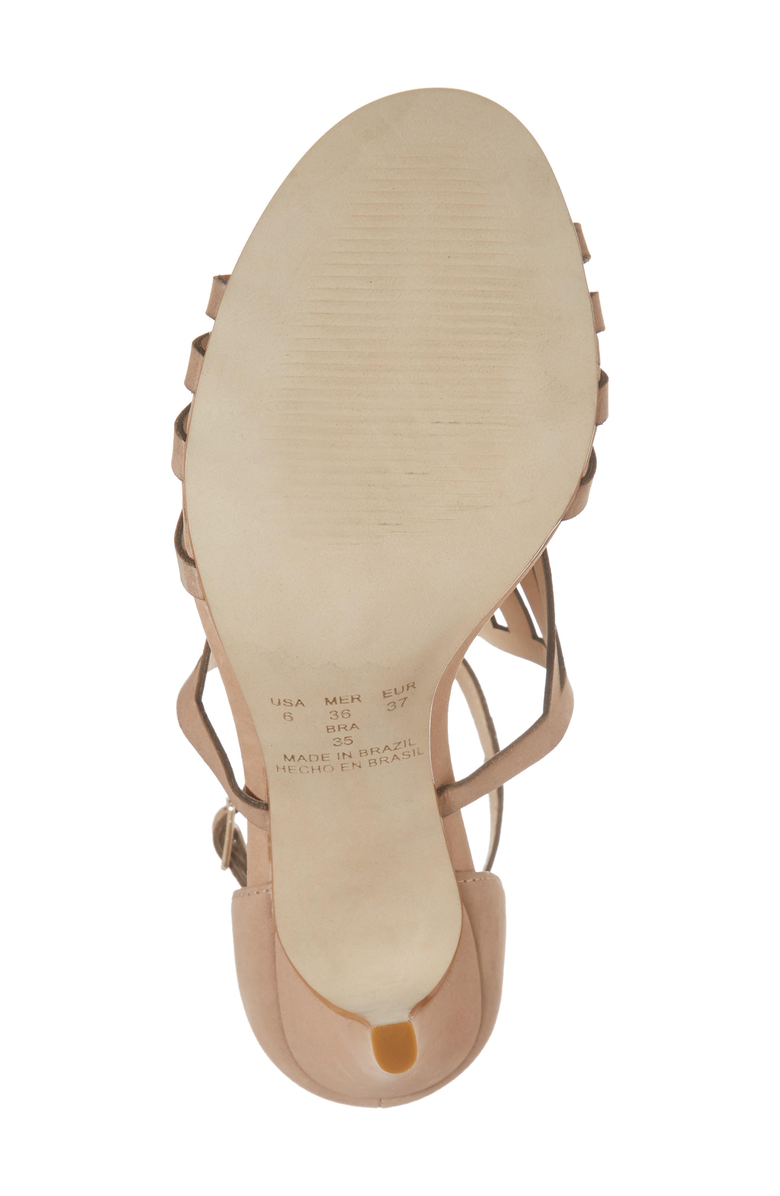 Mikki Sandal,                             Alternate thumbnail 6, color,                             Blush Leather