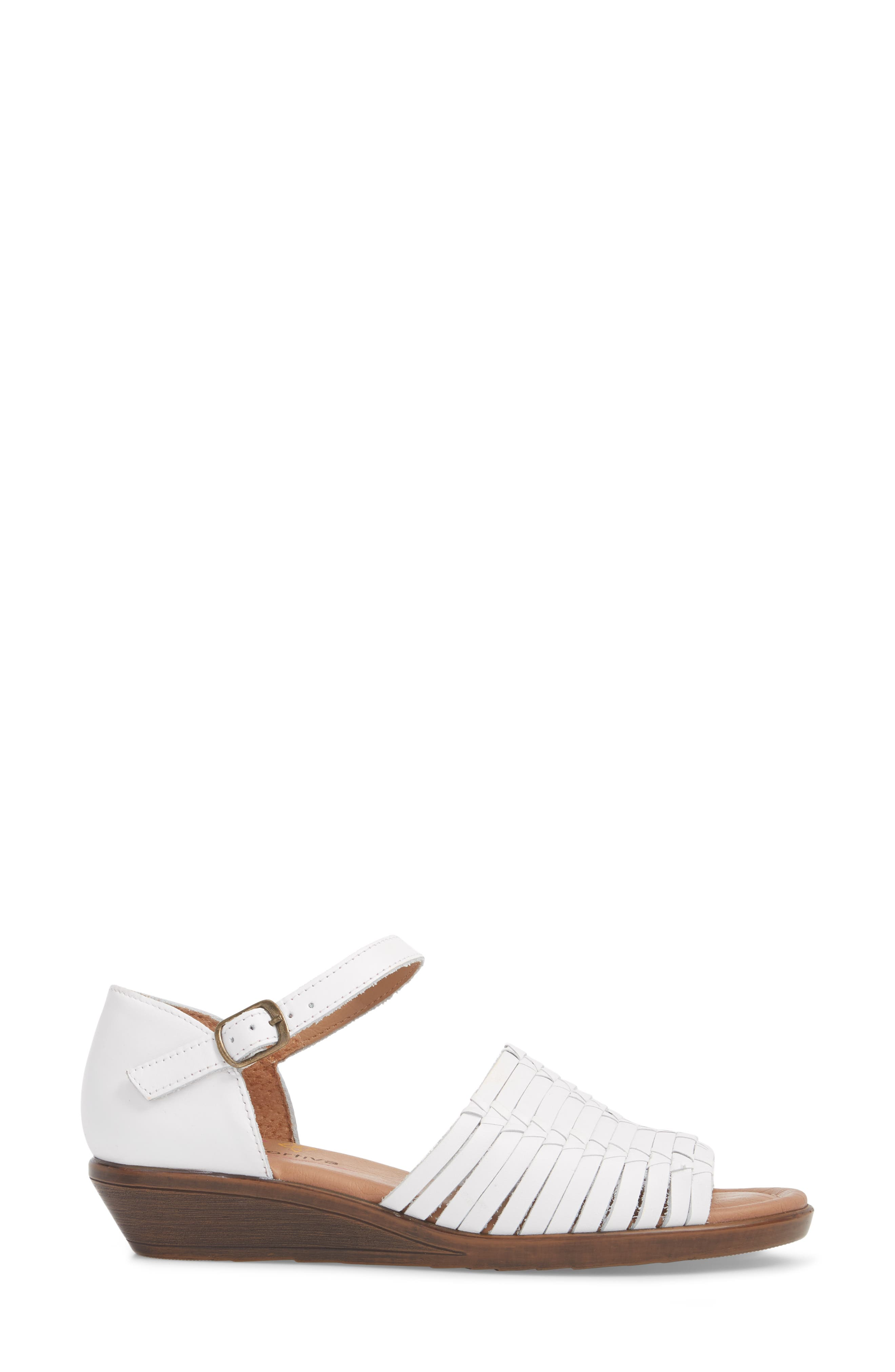 Fayann Sandal,                             Alternate thumbnail 3, color,                             White Leather