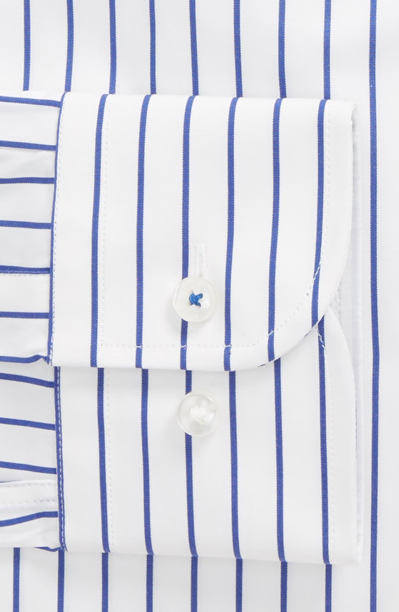 Nordstrom x BOSS Jerrin Slim Fit Stripe Dress Shirt,                             Alternate thumbnail 2, color,                             Blue
