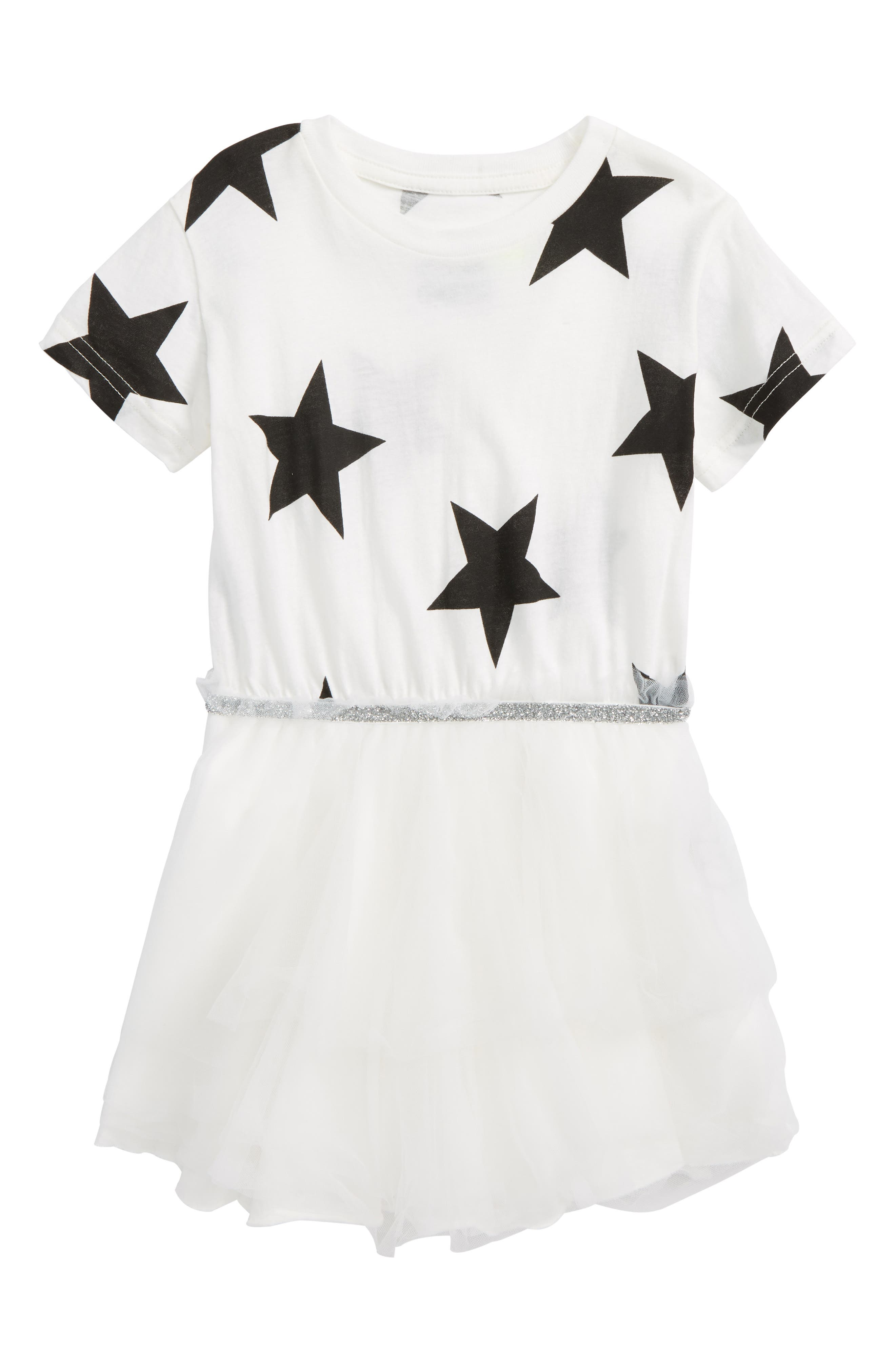 Star Tulle Dress,                         Main,                         color, White