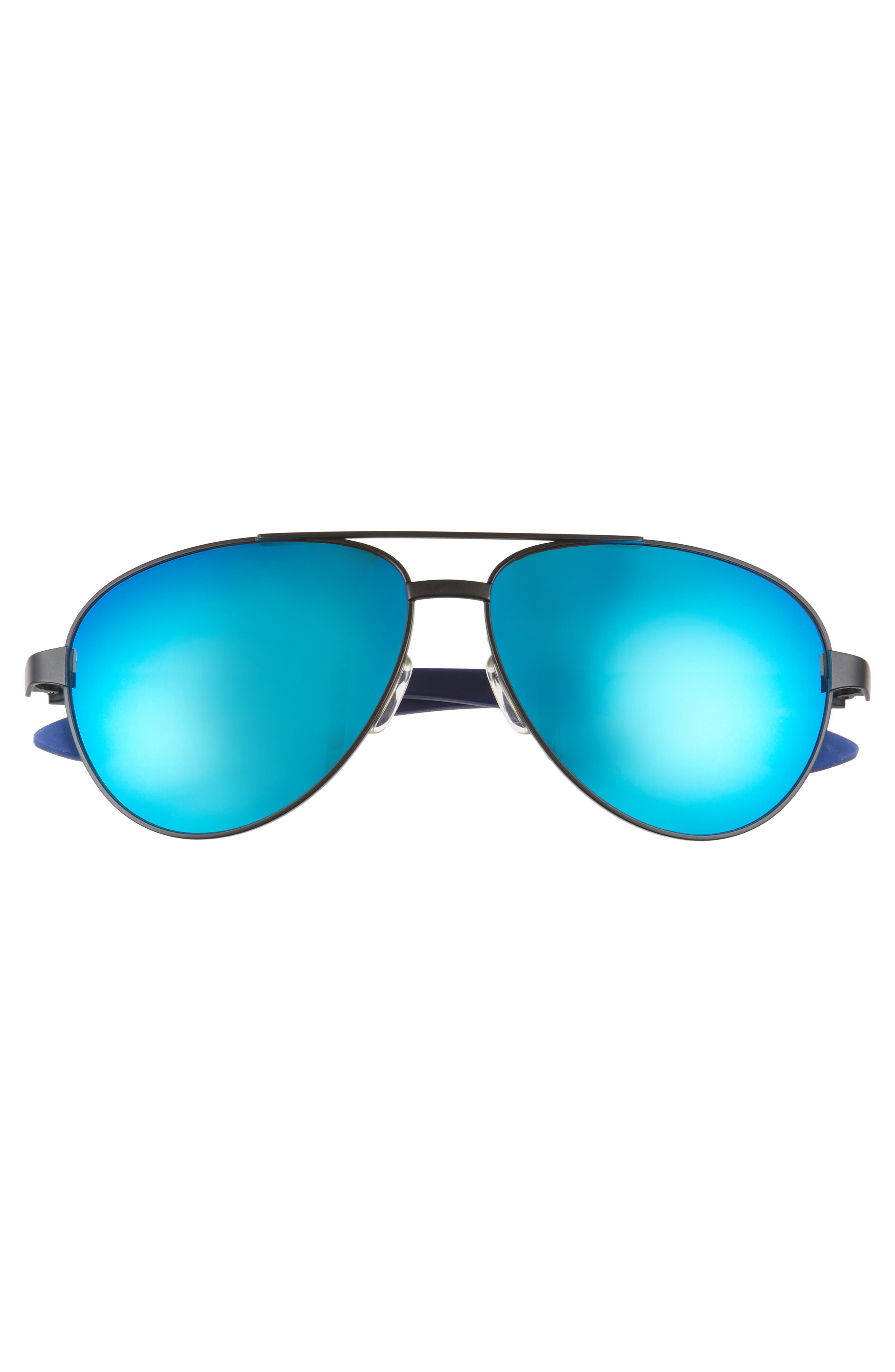 Salute 59mm Aviator Sunglasses,                             Alternate thumbnail 3, color,                             Matte Black