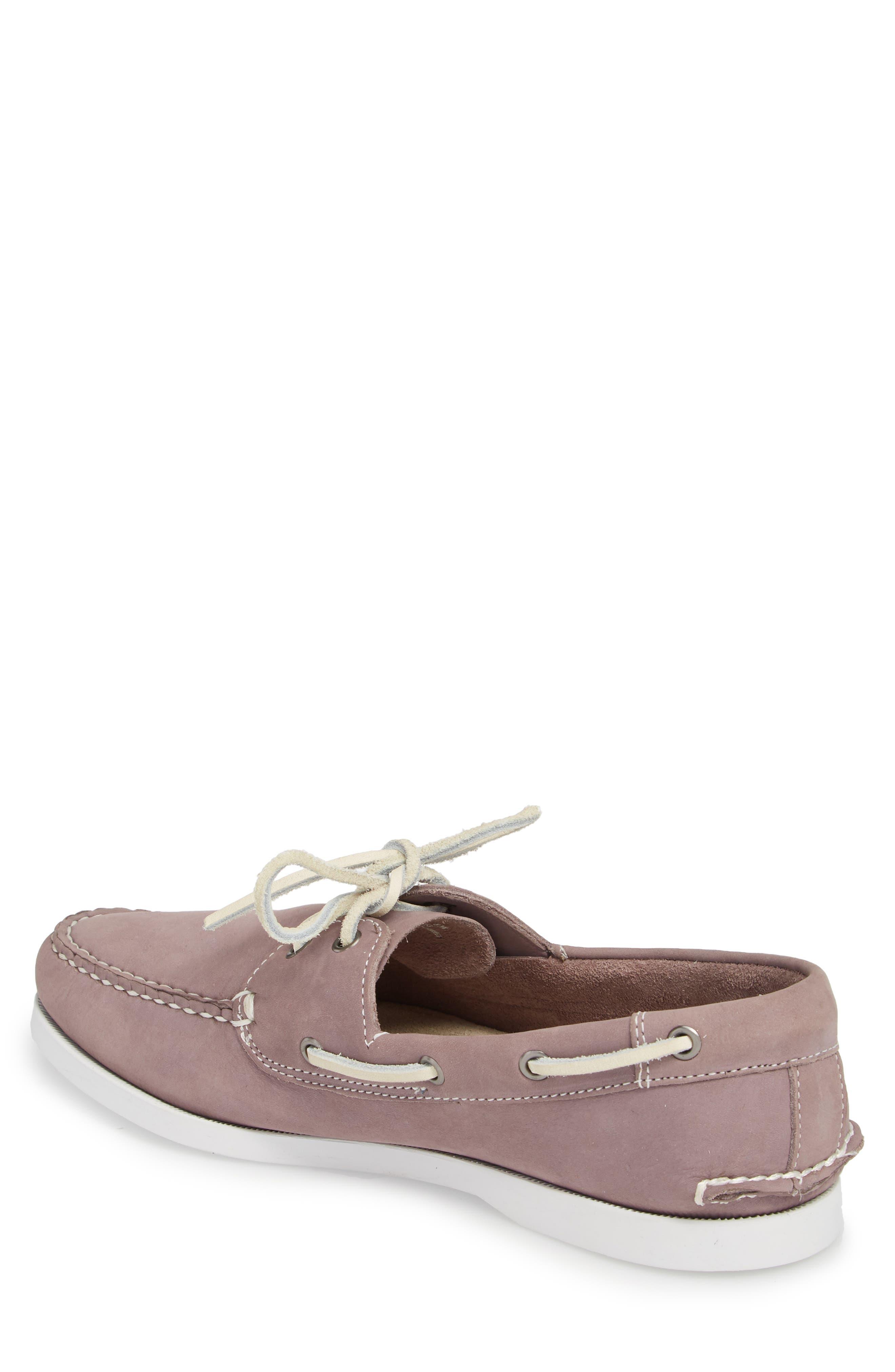 Pacific Boat Shoe,                             Alternate thumbnail 2, color,                             Lavender Nubuck