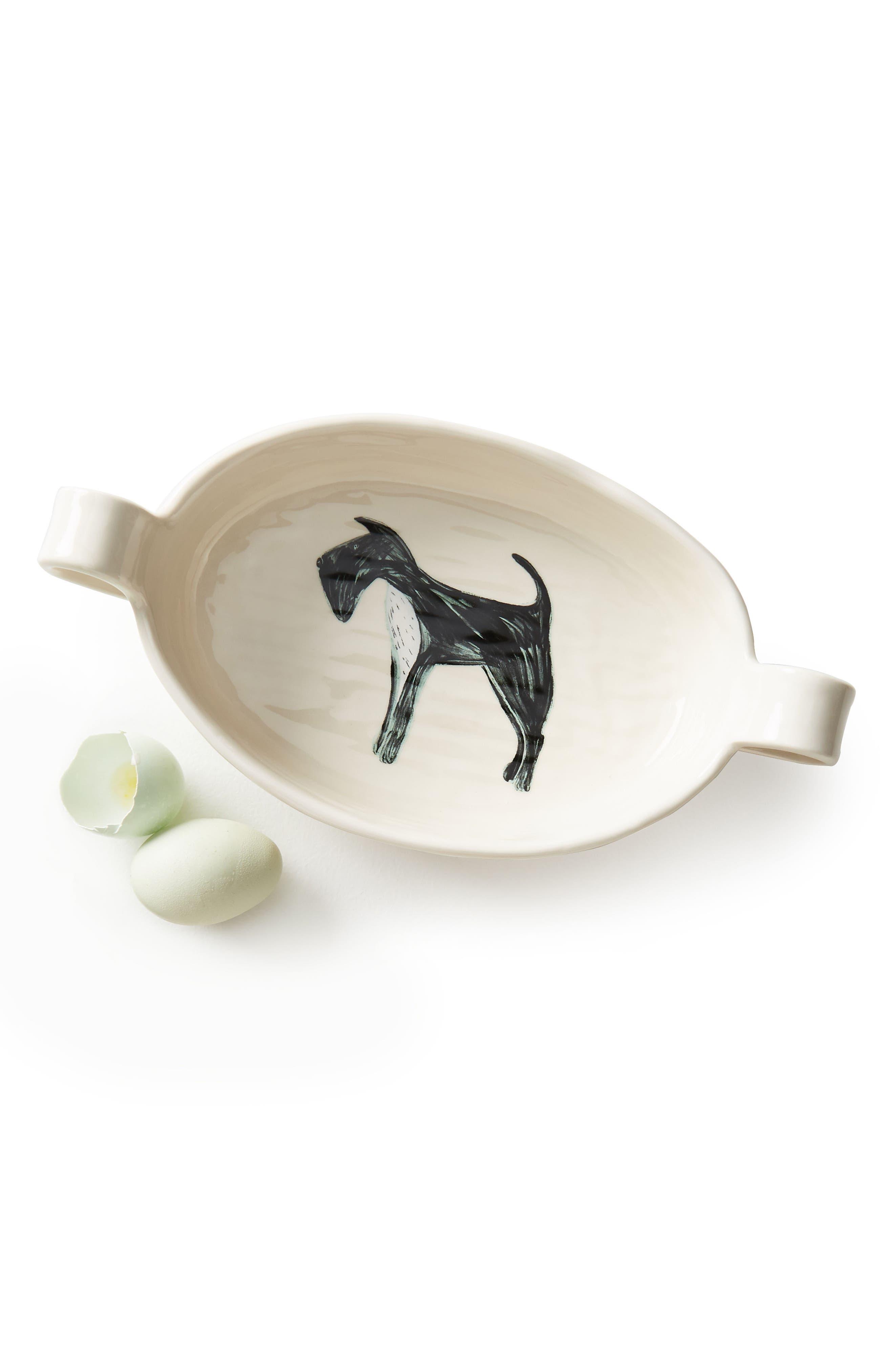 Painted Pup Stoneware Gratin Dish,                             Alternate thumbnail 5, color,                             Scottie
