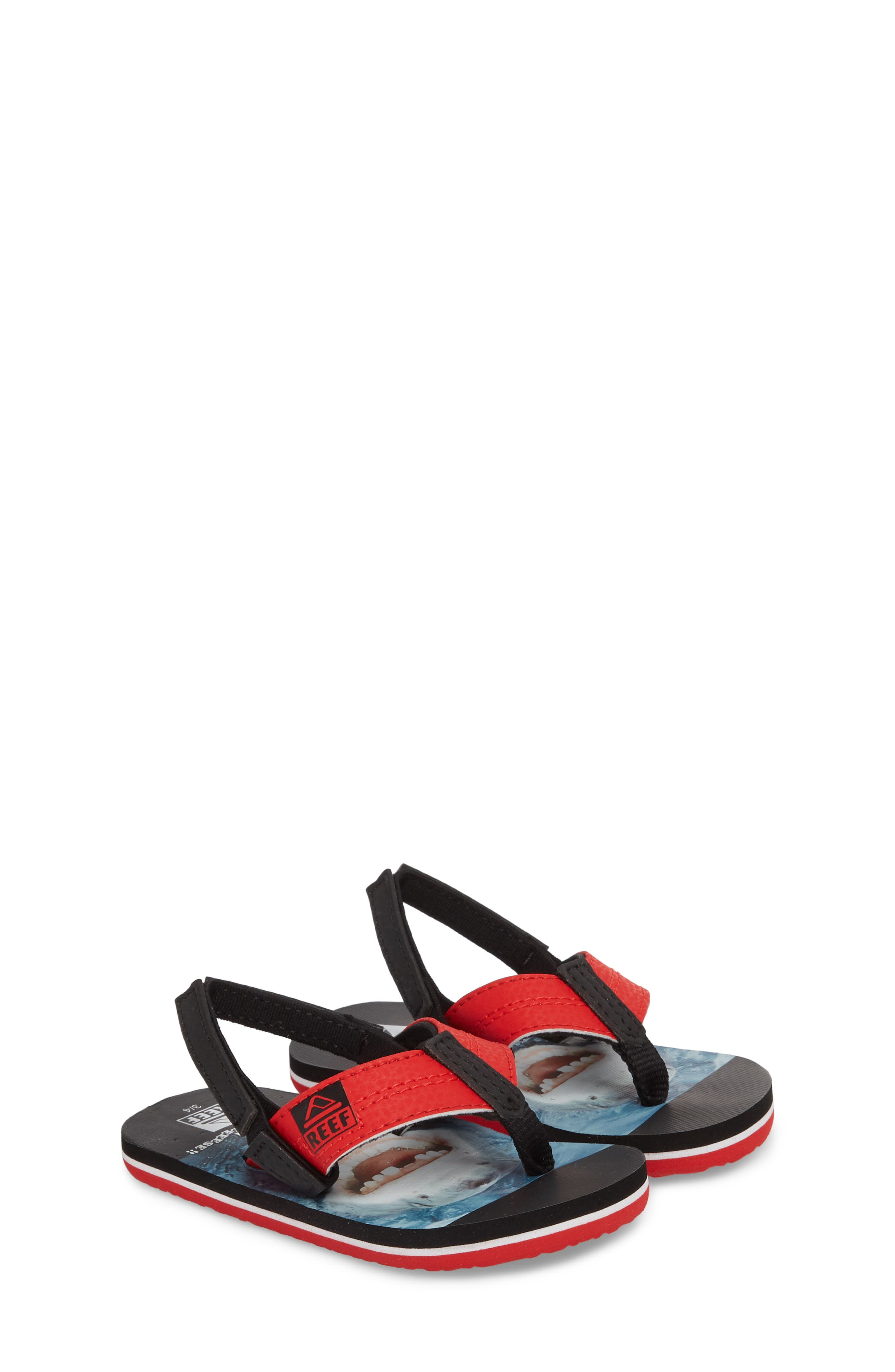 Grom Photo Print Flip Flop,                             Alternate thumbnail 3, color,                             Red