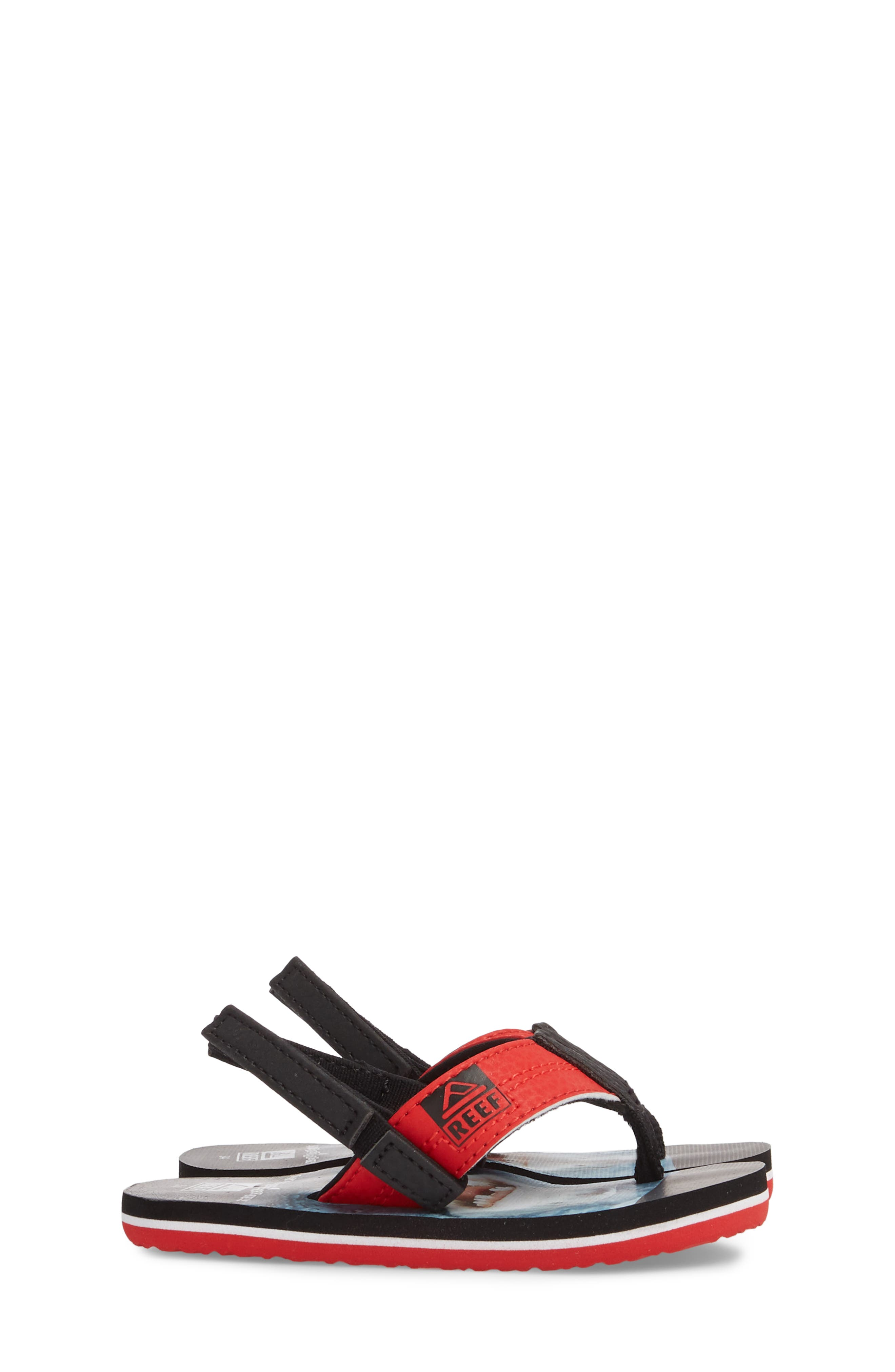 Grom Photo Print Flip Flop,                             Alternate thumbnail 4, color,                             Red