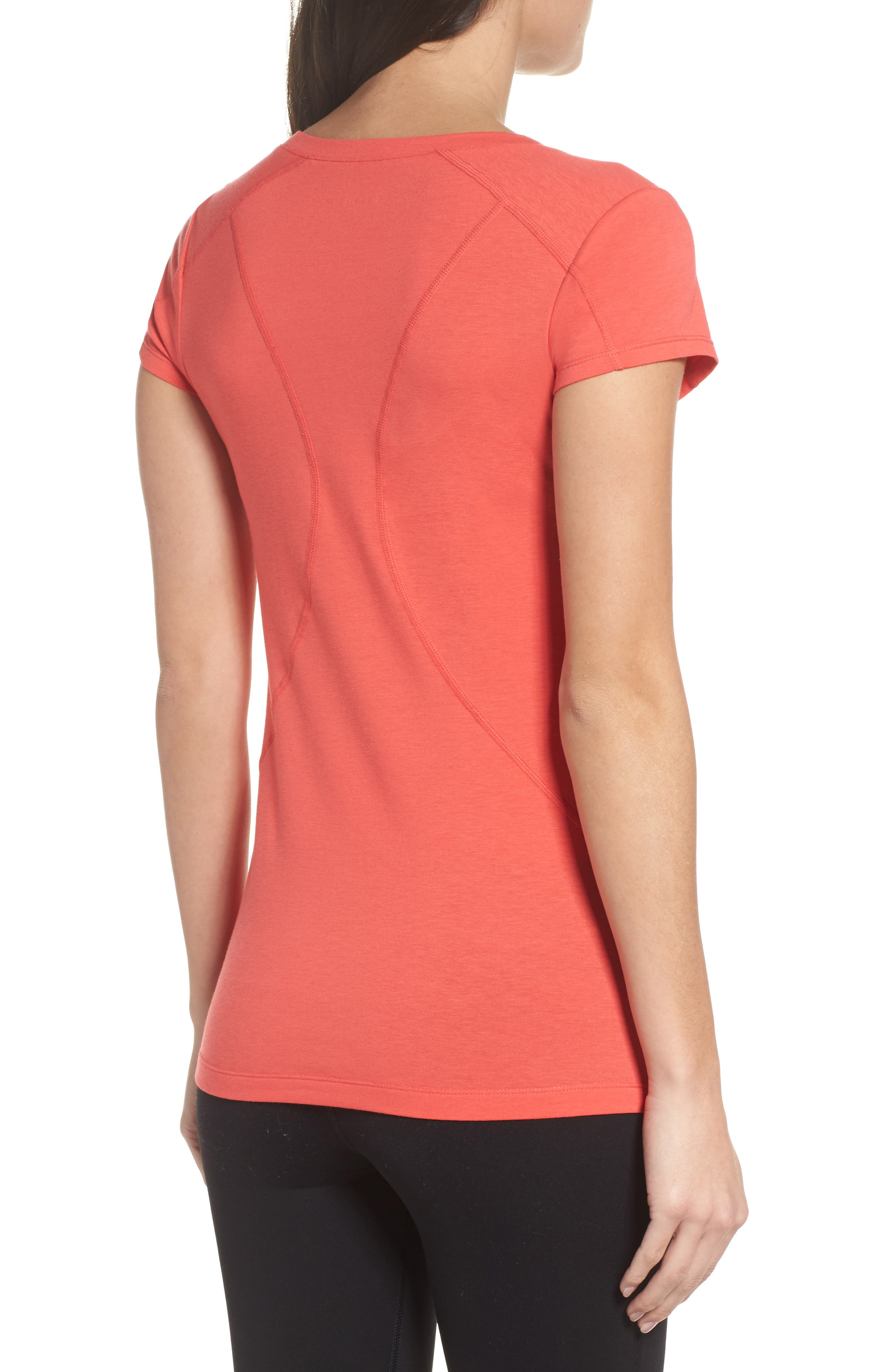 Z Tee,                             Alternate thumbnail 2, color,                             Red Hibiscus