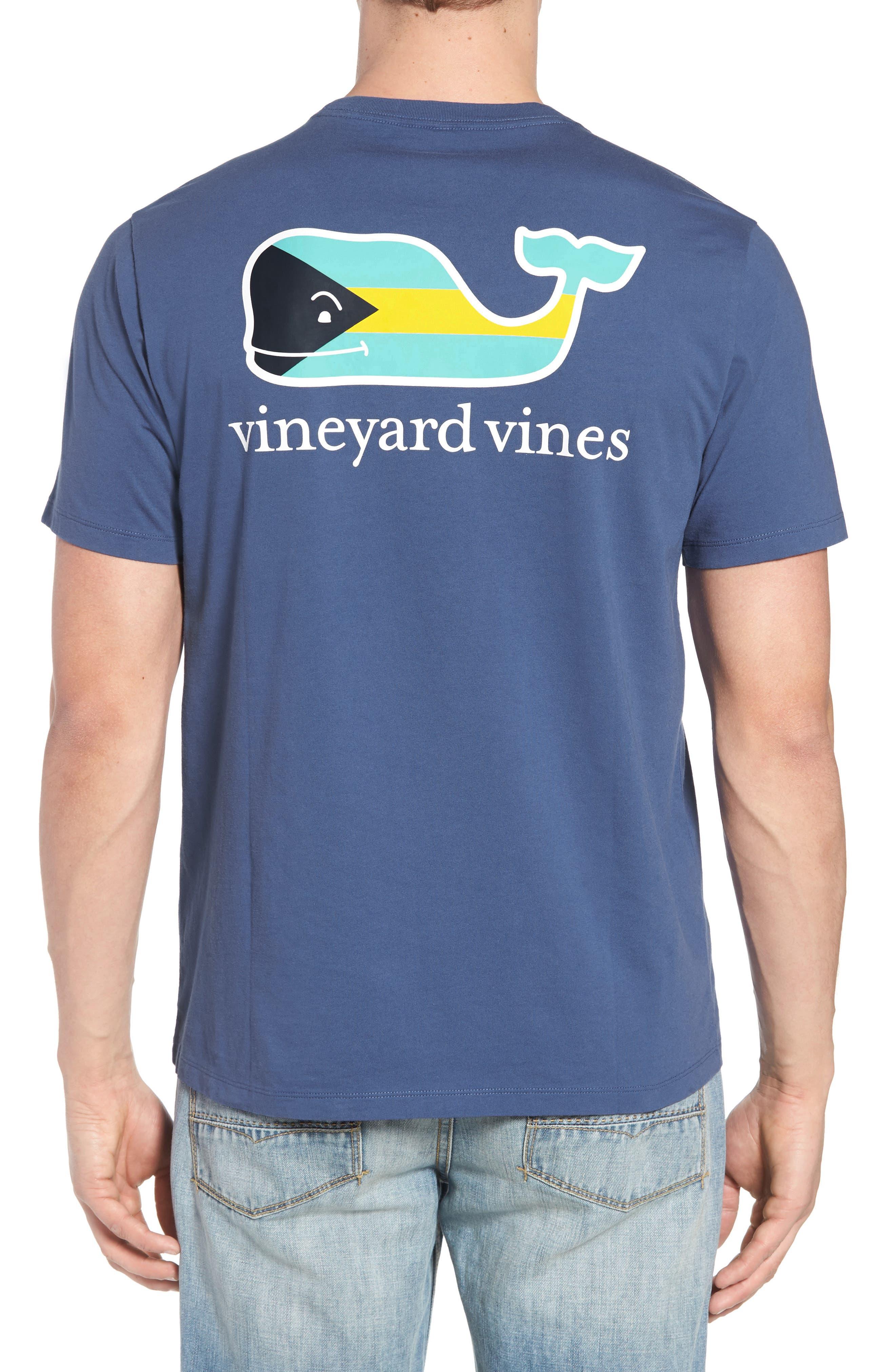 Alternate Image 2  - vineyard vines Bahamas Whale Crewneck Cotton T-Shirt