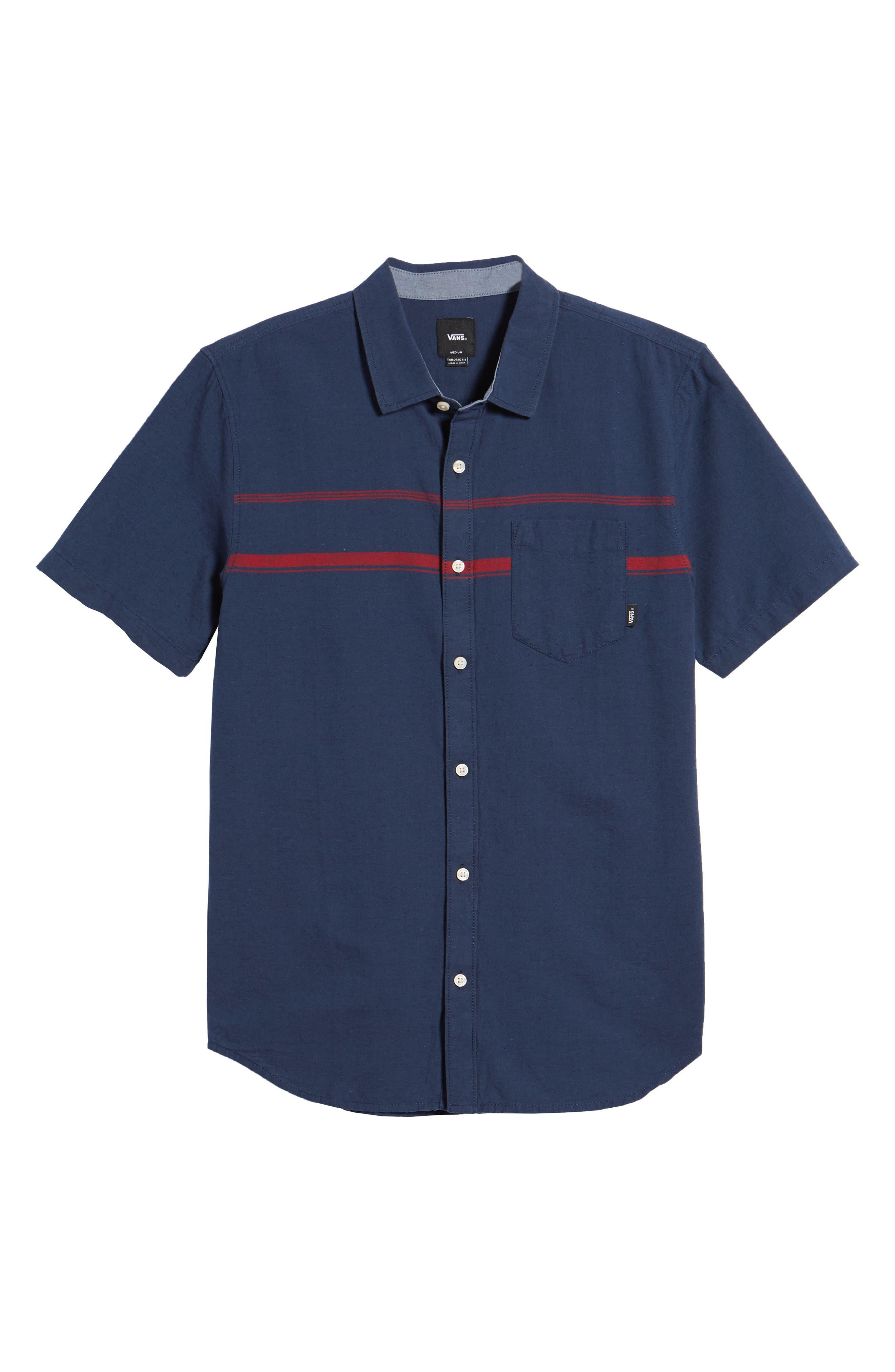 Thurber Short Sleeve Shirt,                             Alternate thumbnail 6, color,                             Dress Blues