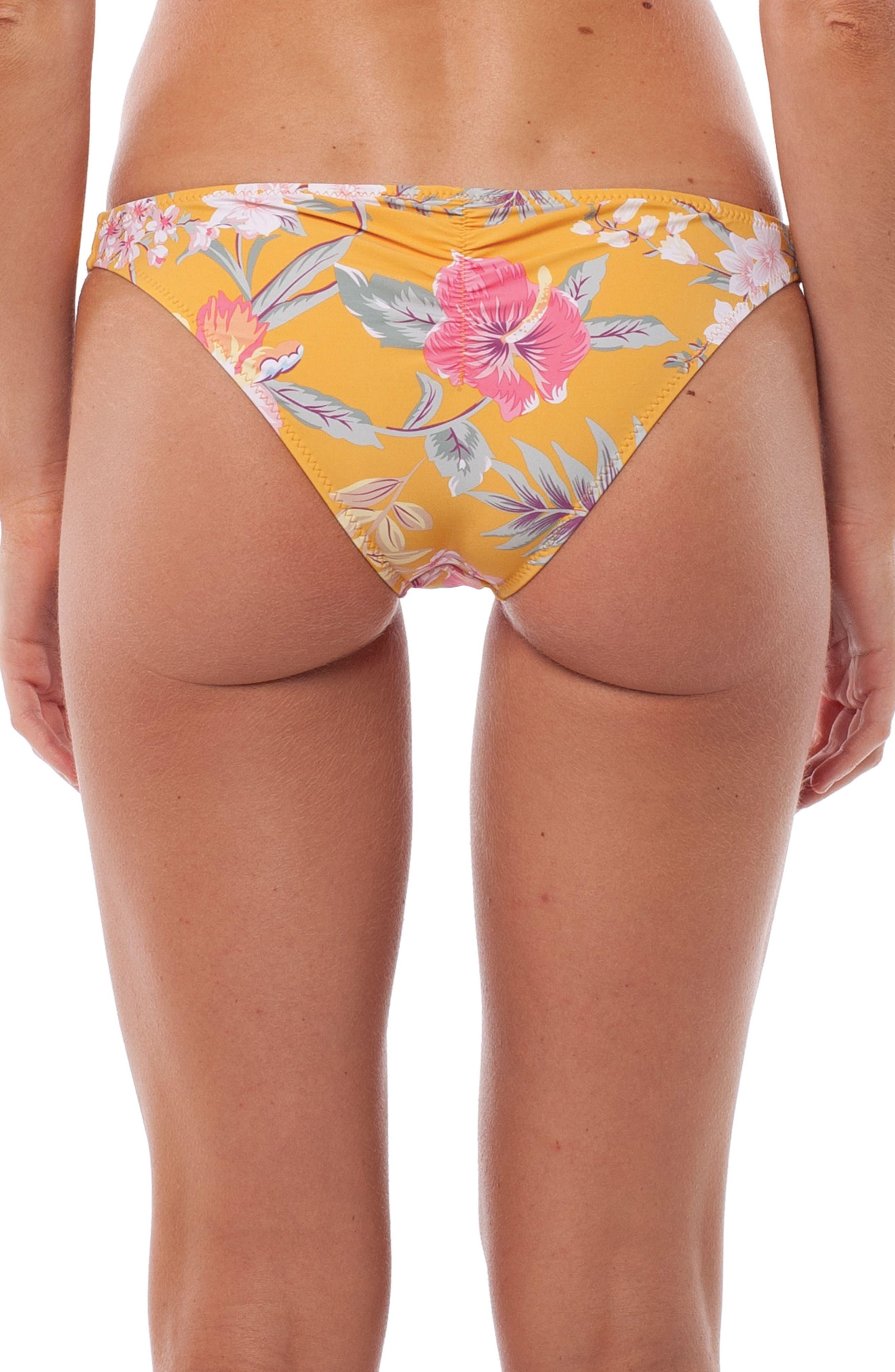 Aruba Hipster Bikini Bottoms,                             Alternate thumbnail 2, color,                             Marigold