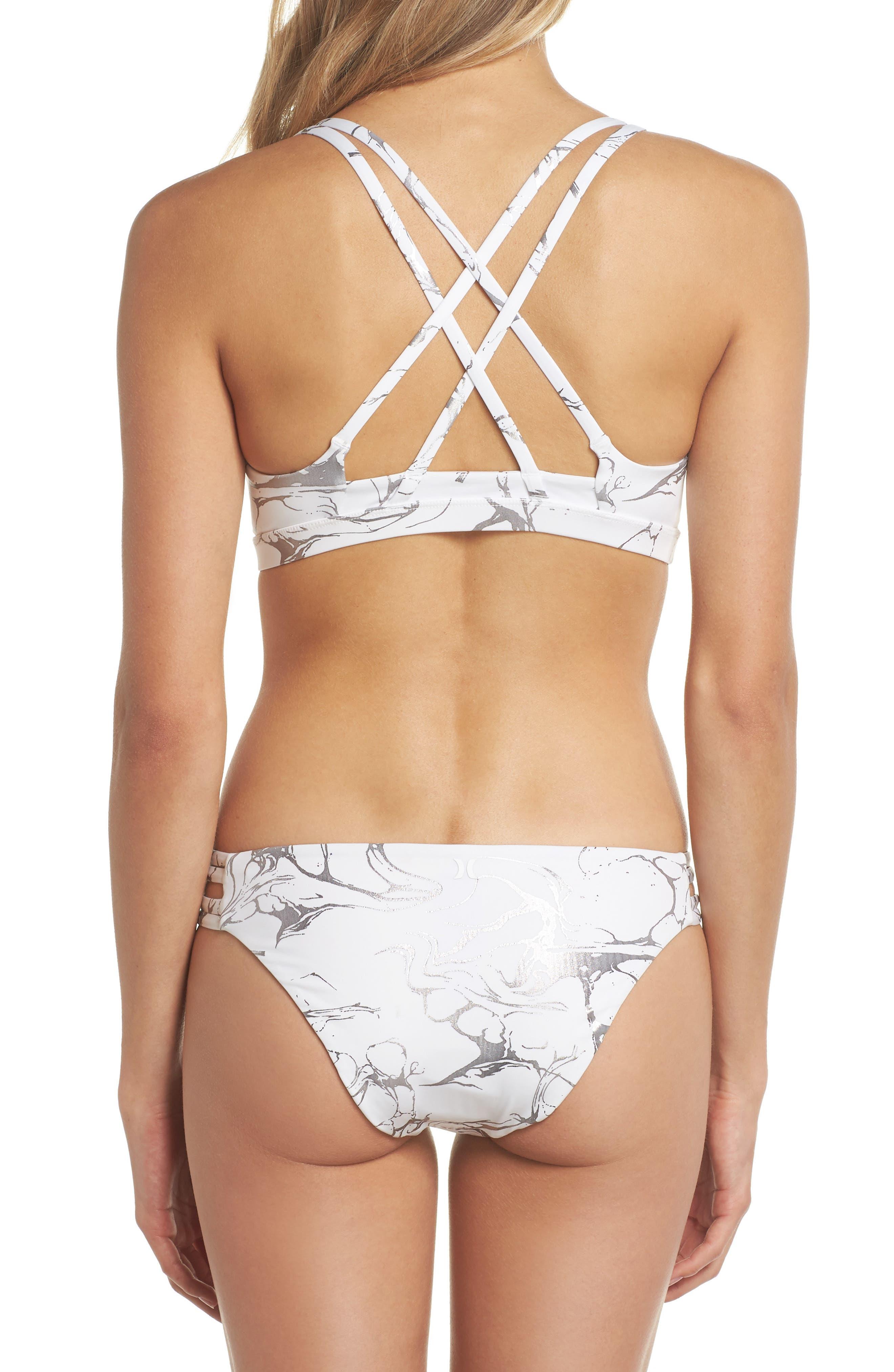 Quick Dry Max Decay Bikini Bottoms,                             Alternate thumbnail 6, color,                             White
