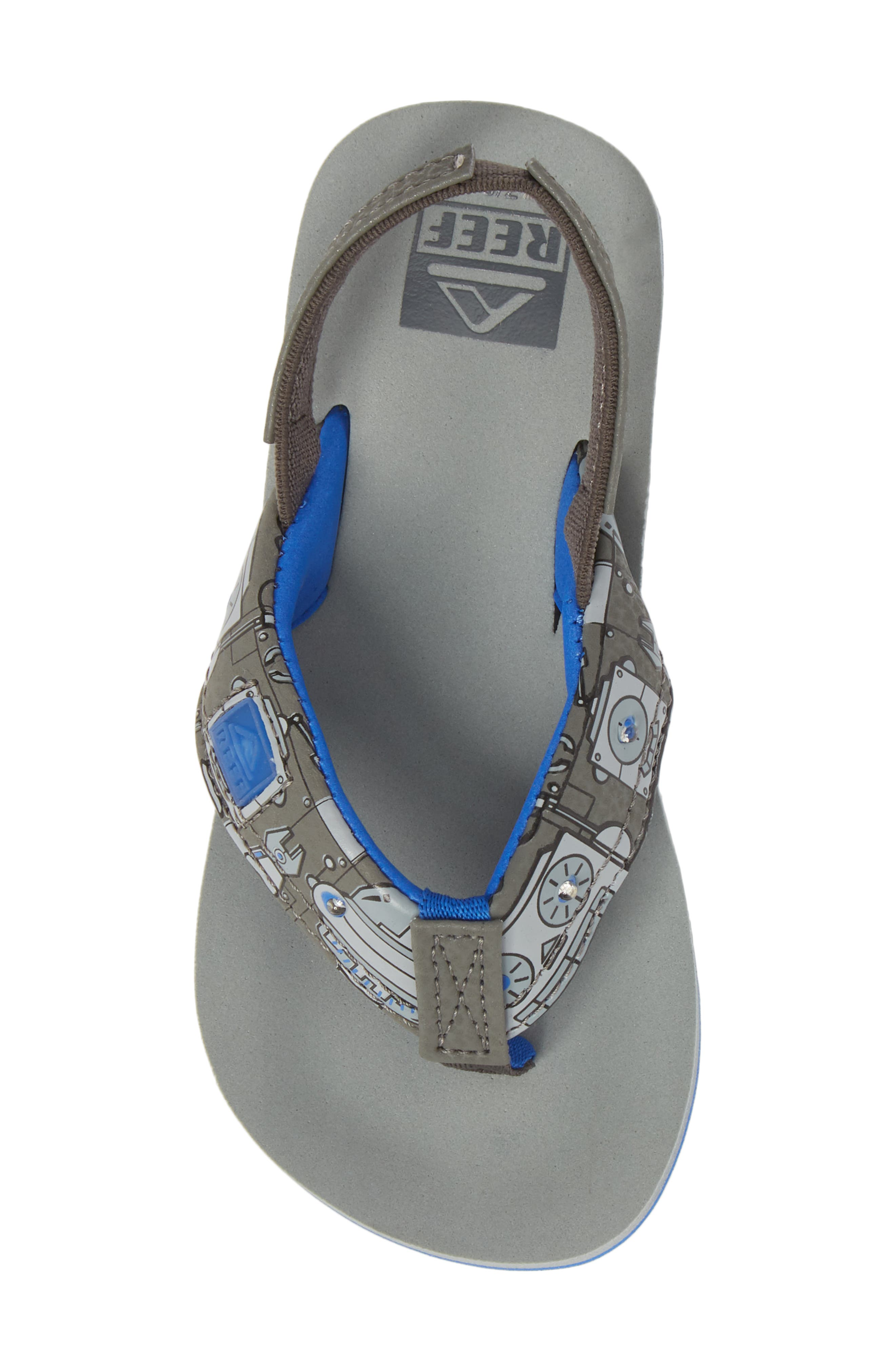 Ahi Light-Up Flip Flop,                             Alternate thumbnail 5, color,                             Grey