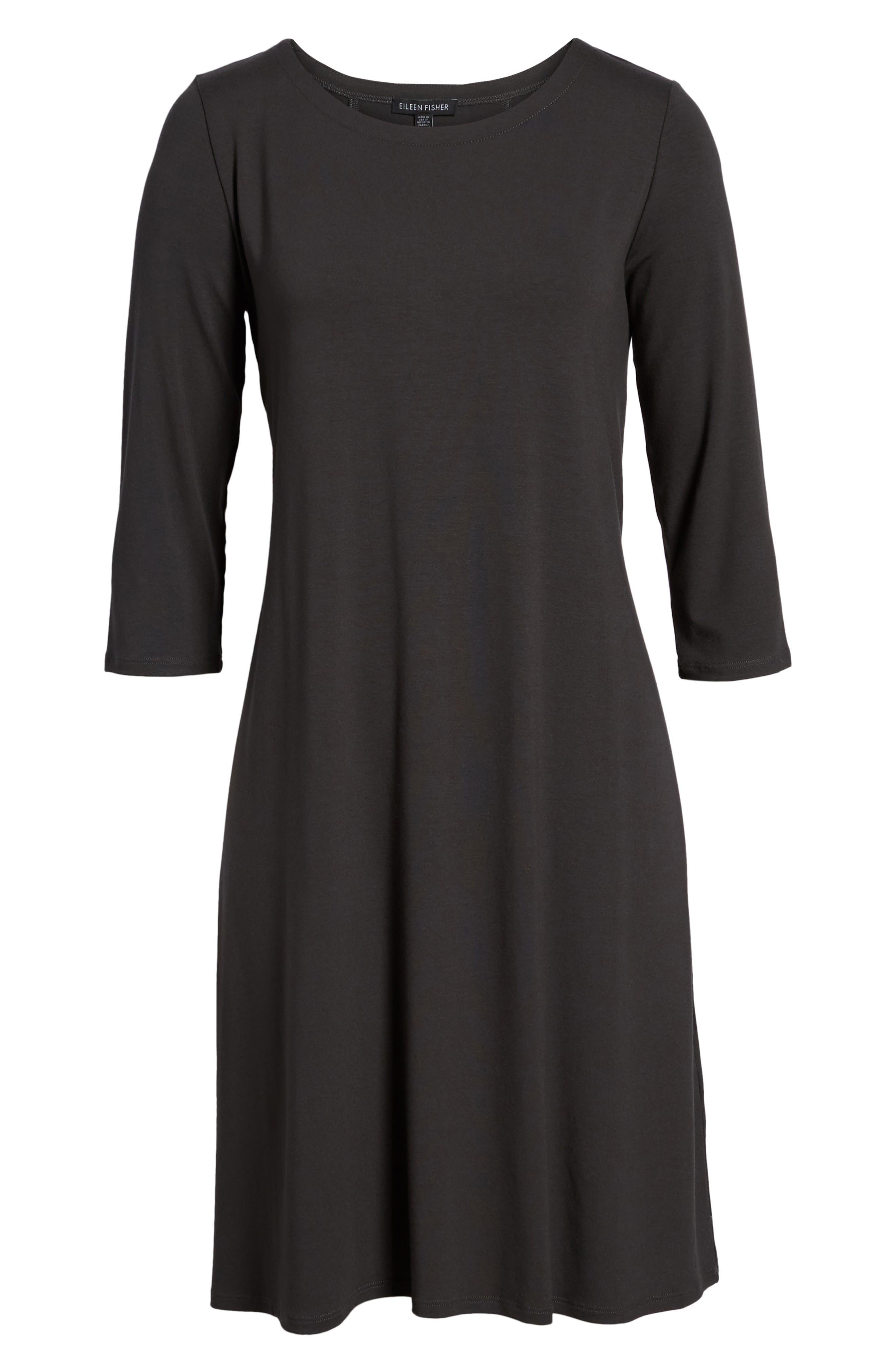 Alternate Image 6  - Eileen Fisher Tie Back Dress (Regular & Petite)