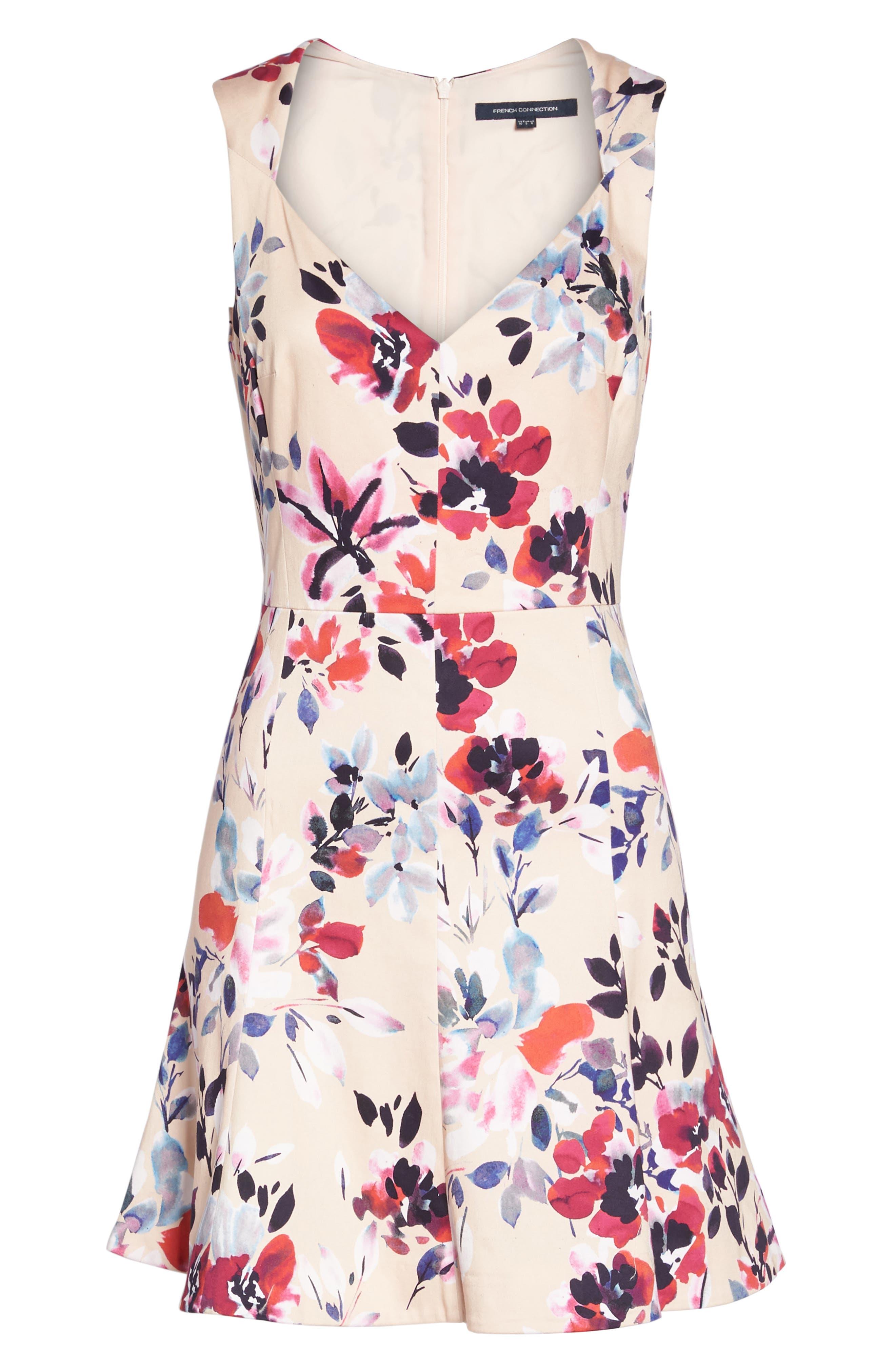Linosa Fit & Flare Dress,                             Alternate thumbnail 7, color,                             Barley Pink