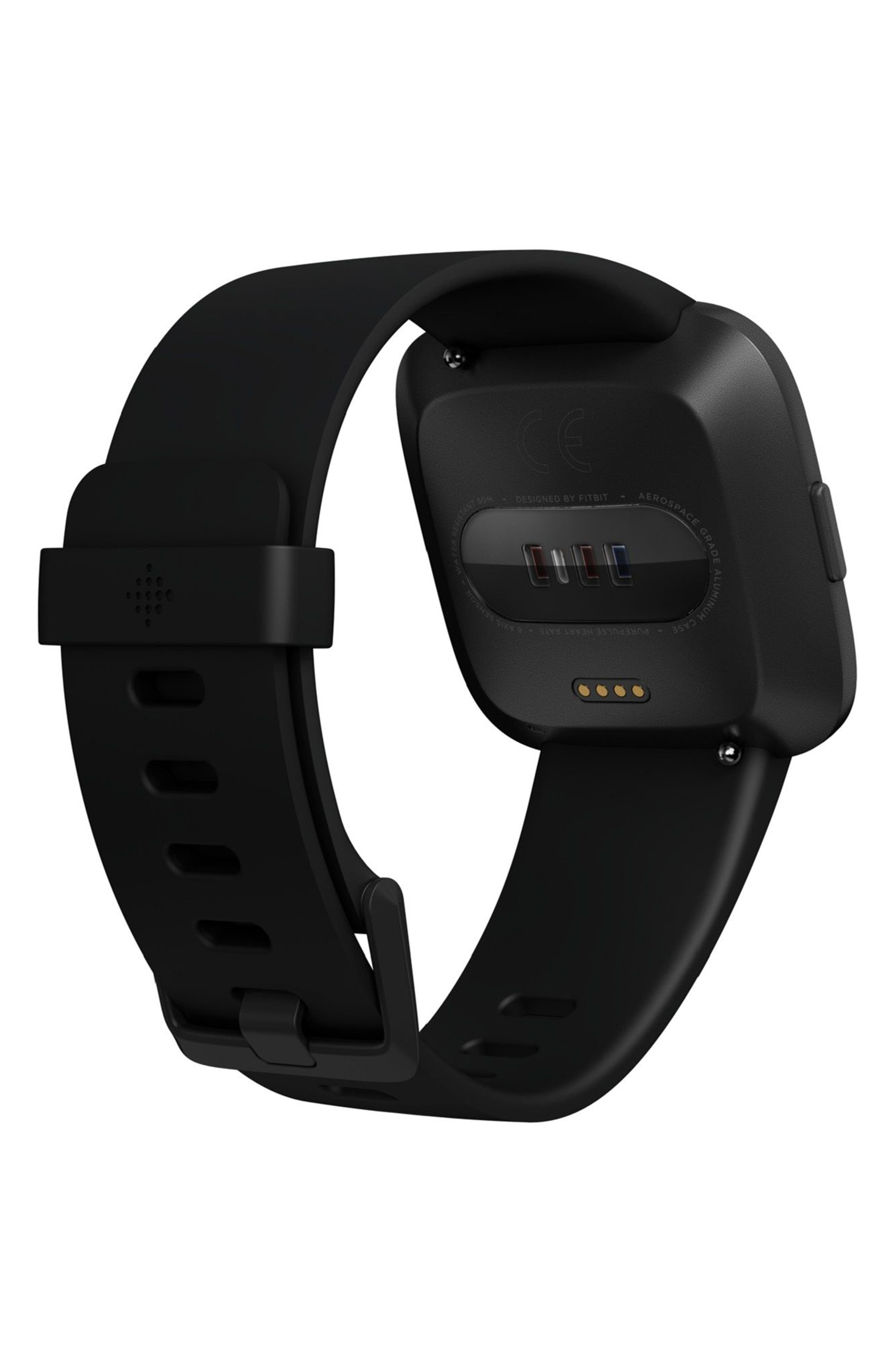 Versa Smart Watch,                             Alternate thumbnail 4, color,                             Black / Black
