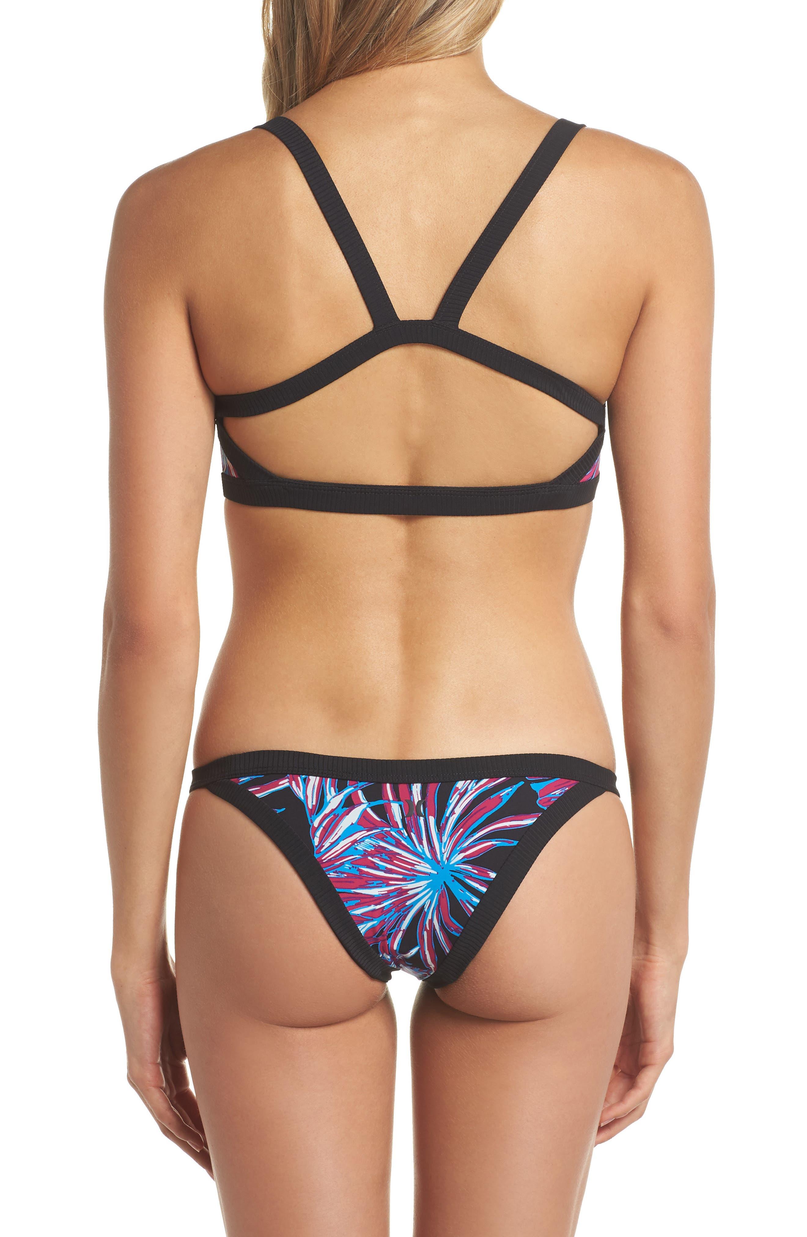 Koko Quick Dry Bikini Bottoms,                             Alternate thumbnail 6, color,                             Black