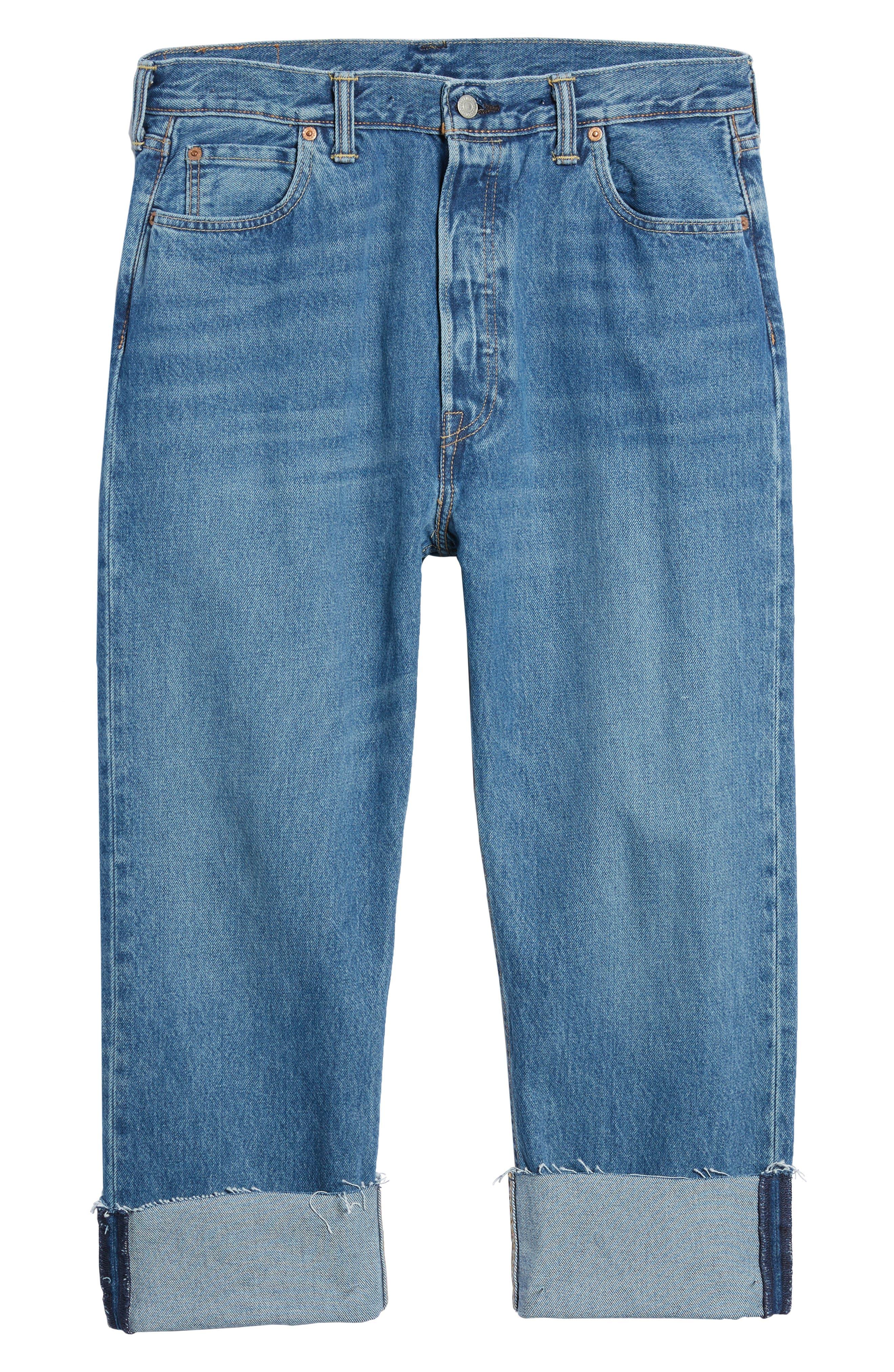 Alternate Image 6  - Levi's® 501™ Straight Leg Jeans (Bunker Indigo)