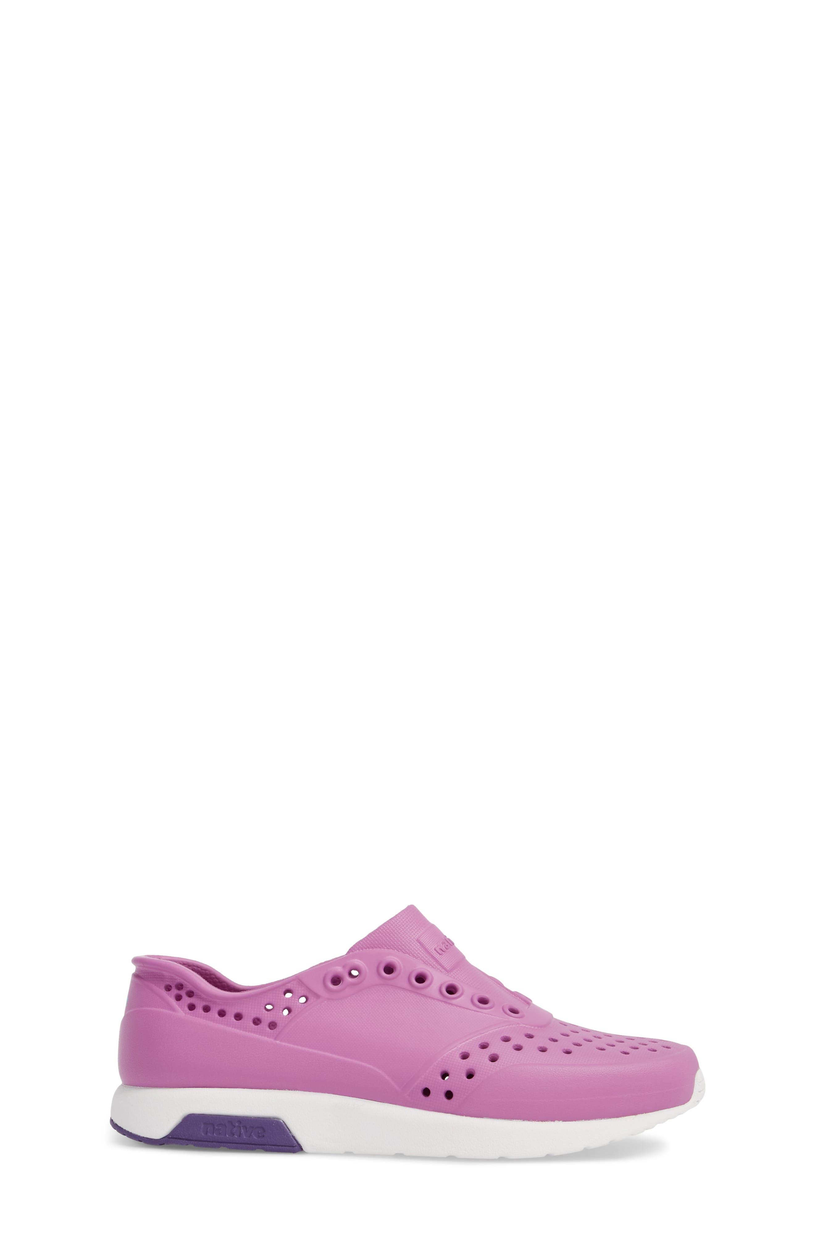 Lennox Slip-On Sneaker,                             Alternate thumbnail 3, color,                             Peace Purple/ Shell White