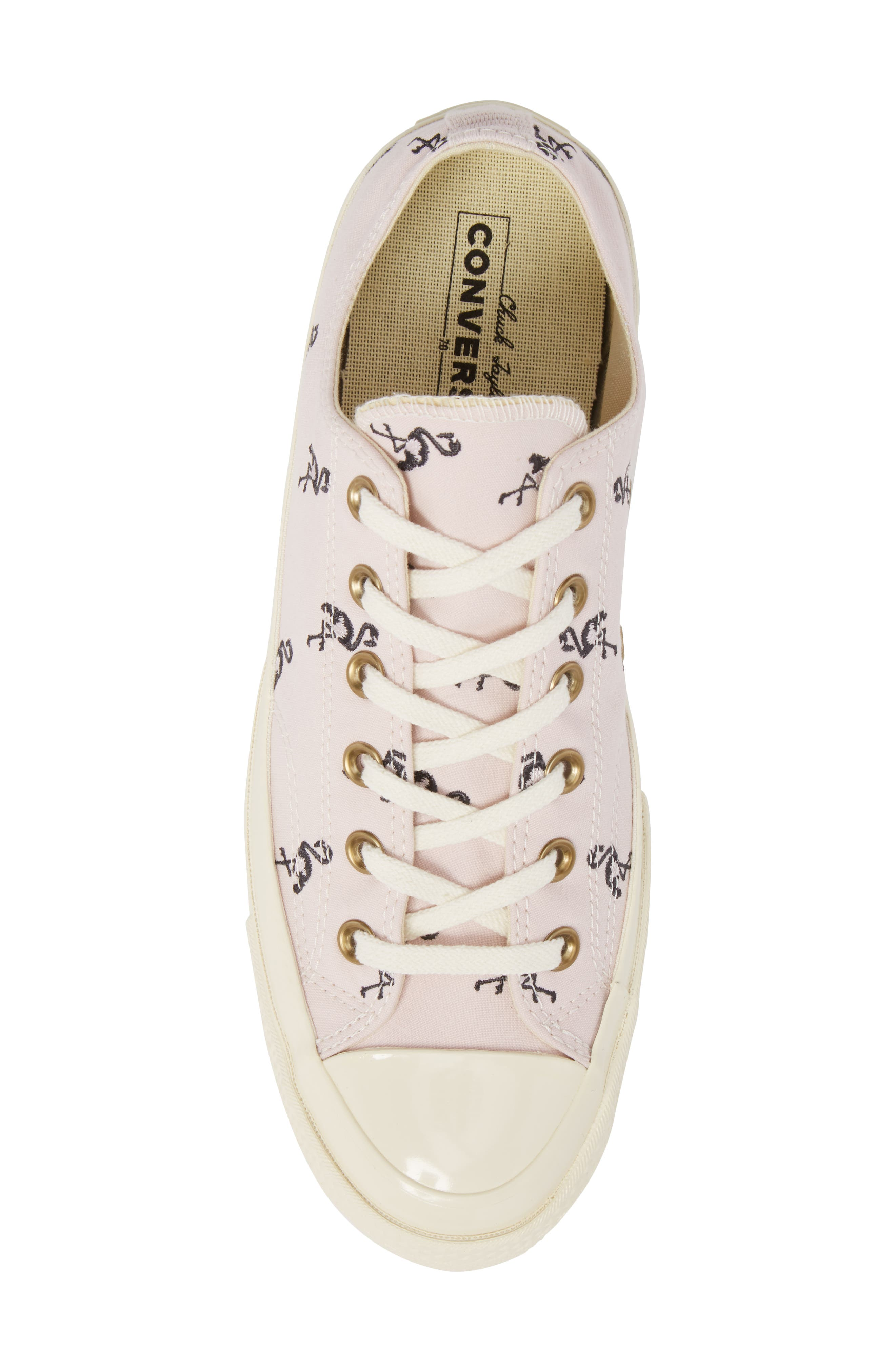 Chuck Taylor<sup>®</sup> All Star<sup>®</sup> 70 Flamingos Low Top Sneaker,                             Alternate thumbnail 5, color,                             Barely Rose
