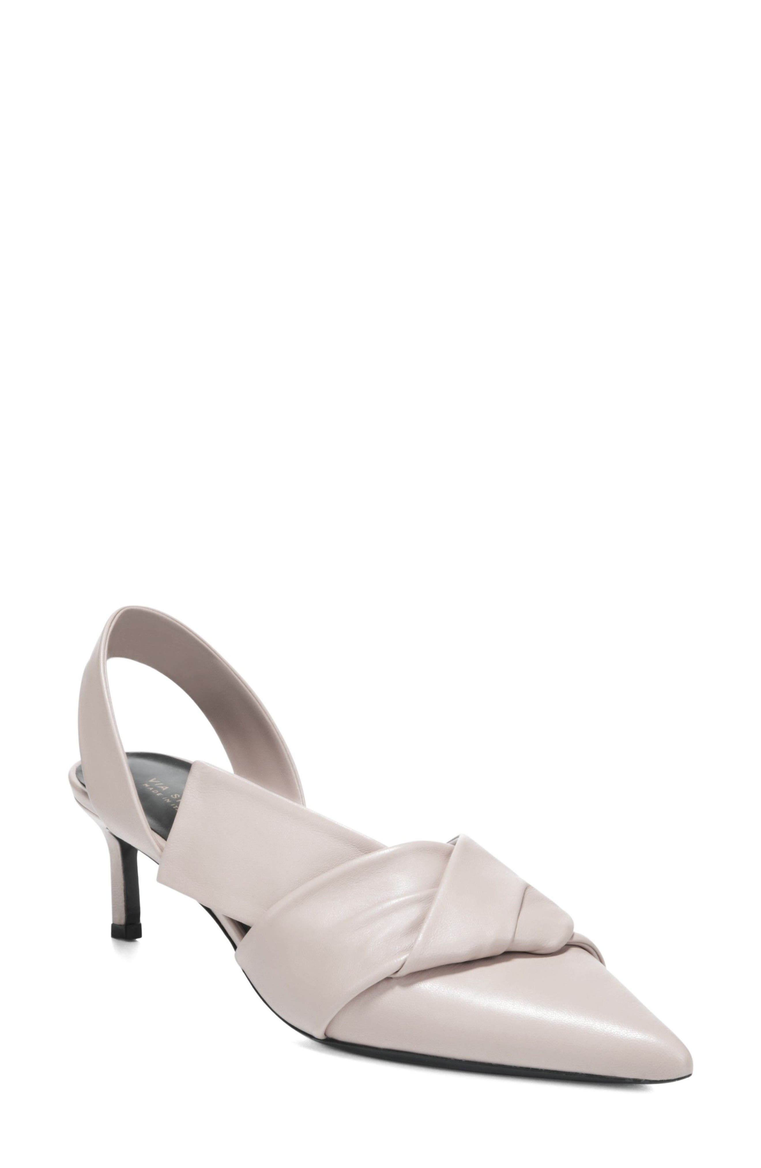 Via Spiga Women's Elisha Pointy Toe Slingback Pump