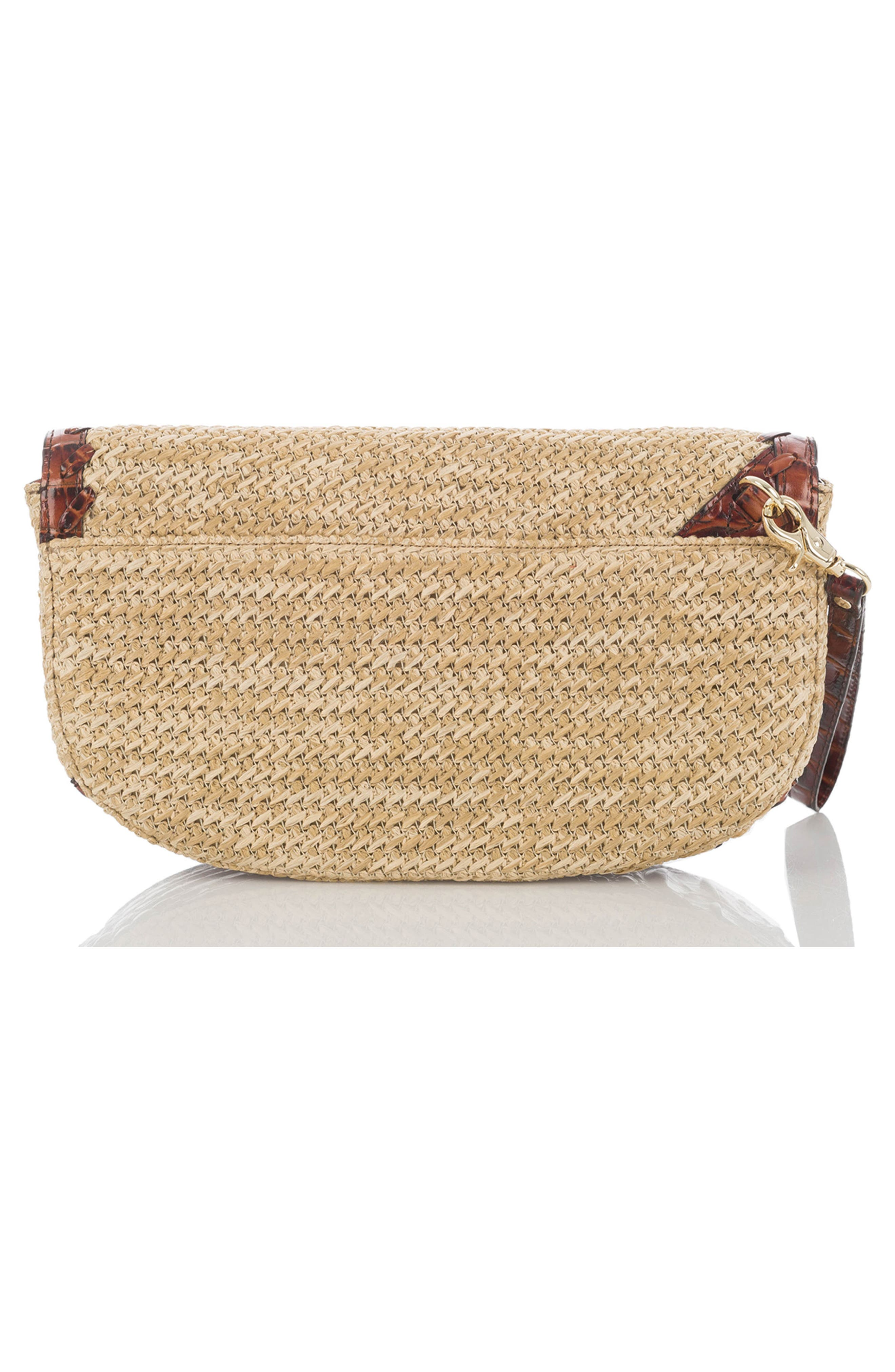 Sandrine Straw Clutch,                             Alternate thumbnail 2, color,                             Natural