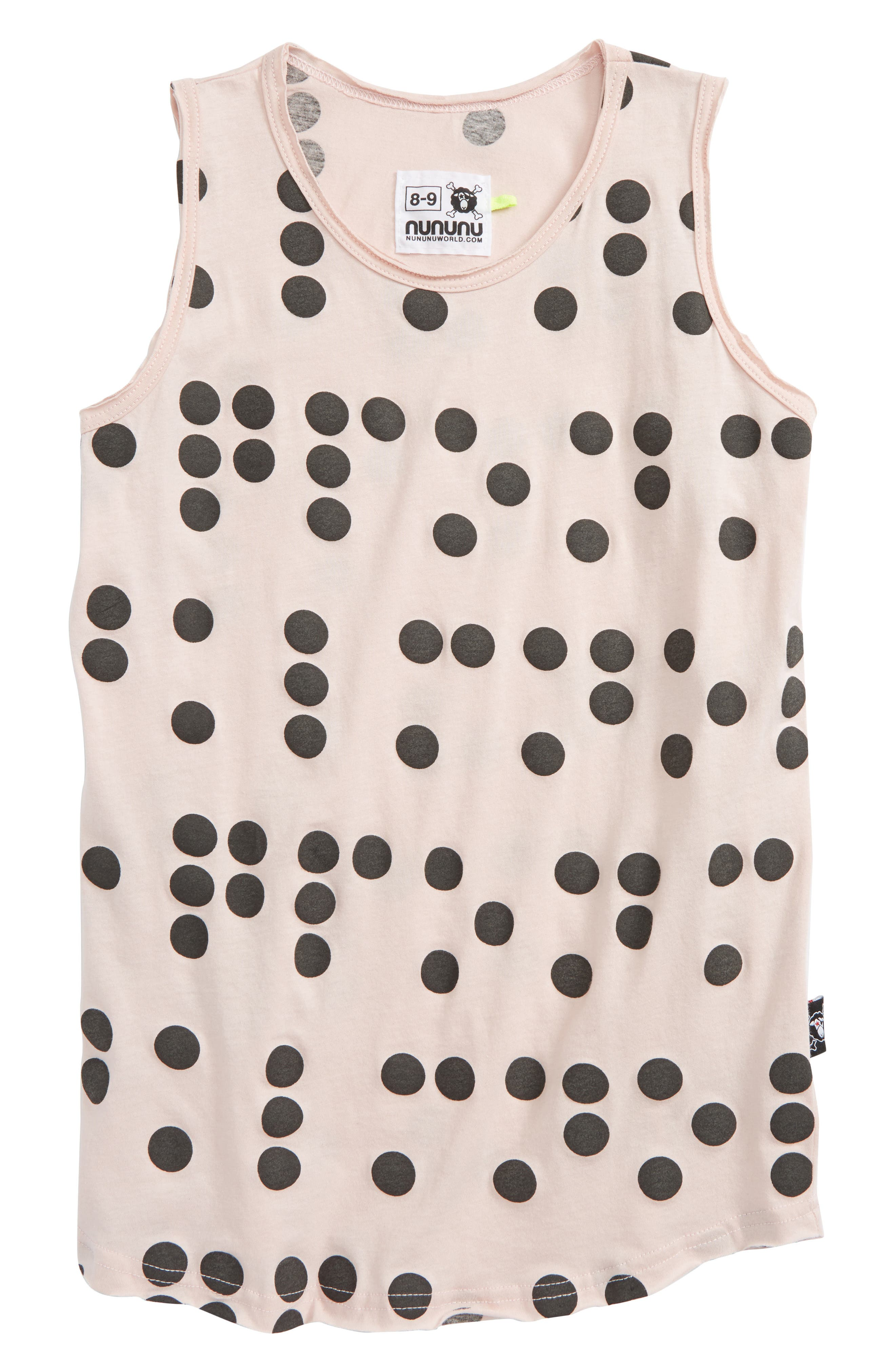 Braille Dot Tank,                             Main thumbnail 1, color,                             Powder Pink
