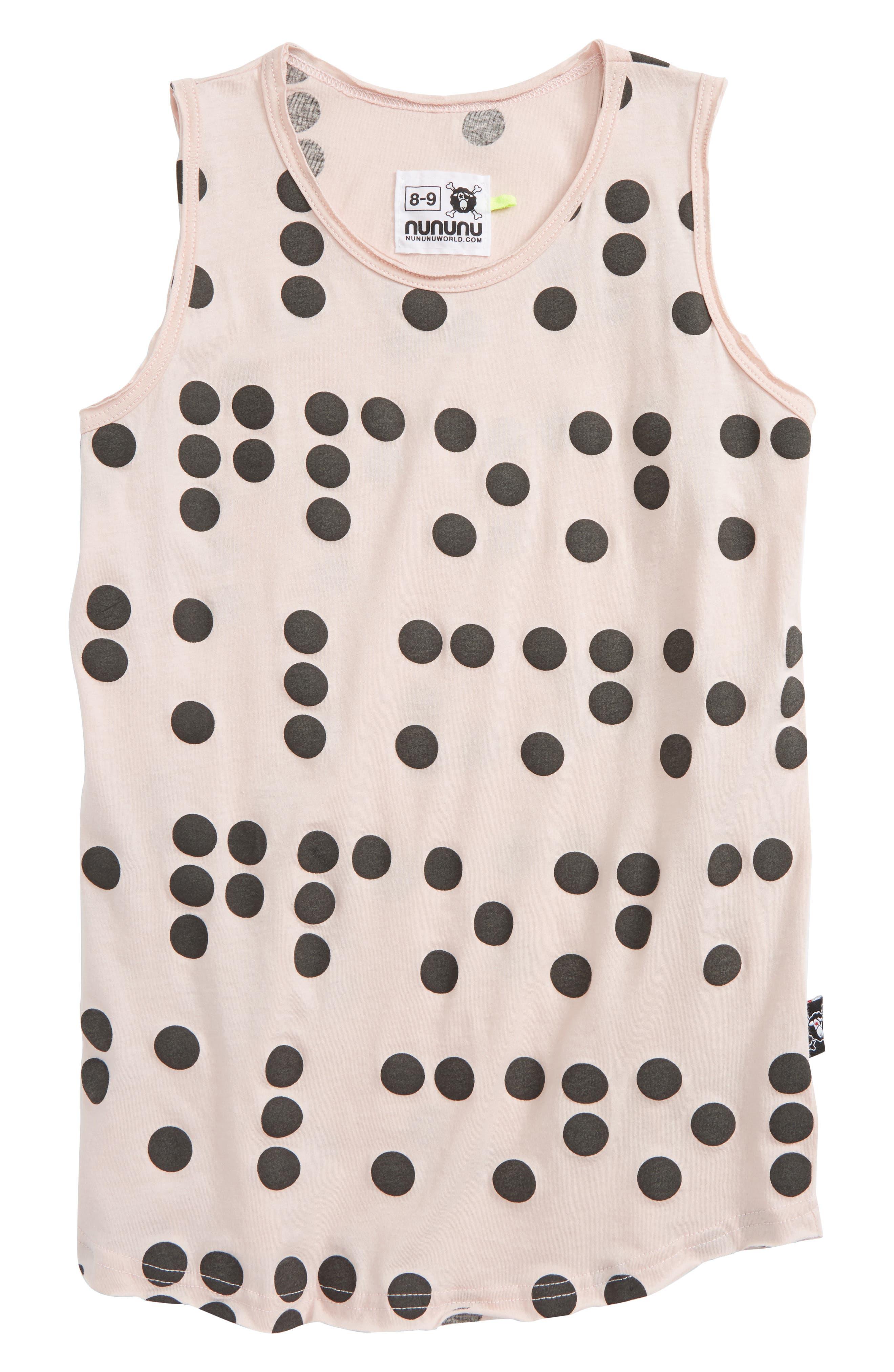 Braille Dot Tank,                         Main,                         color, Powder Pink