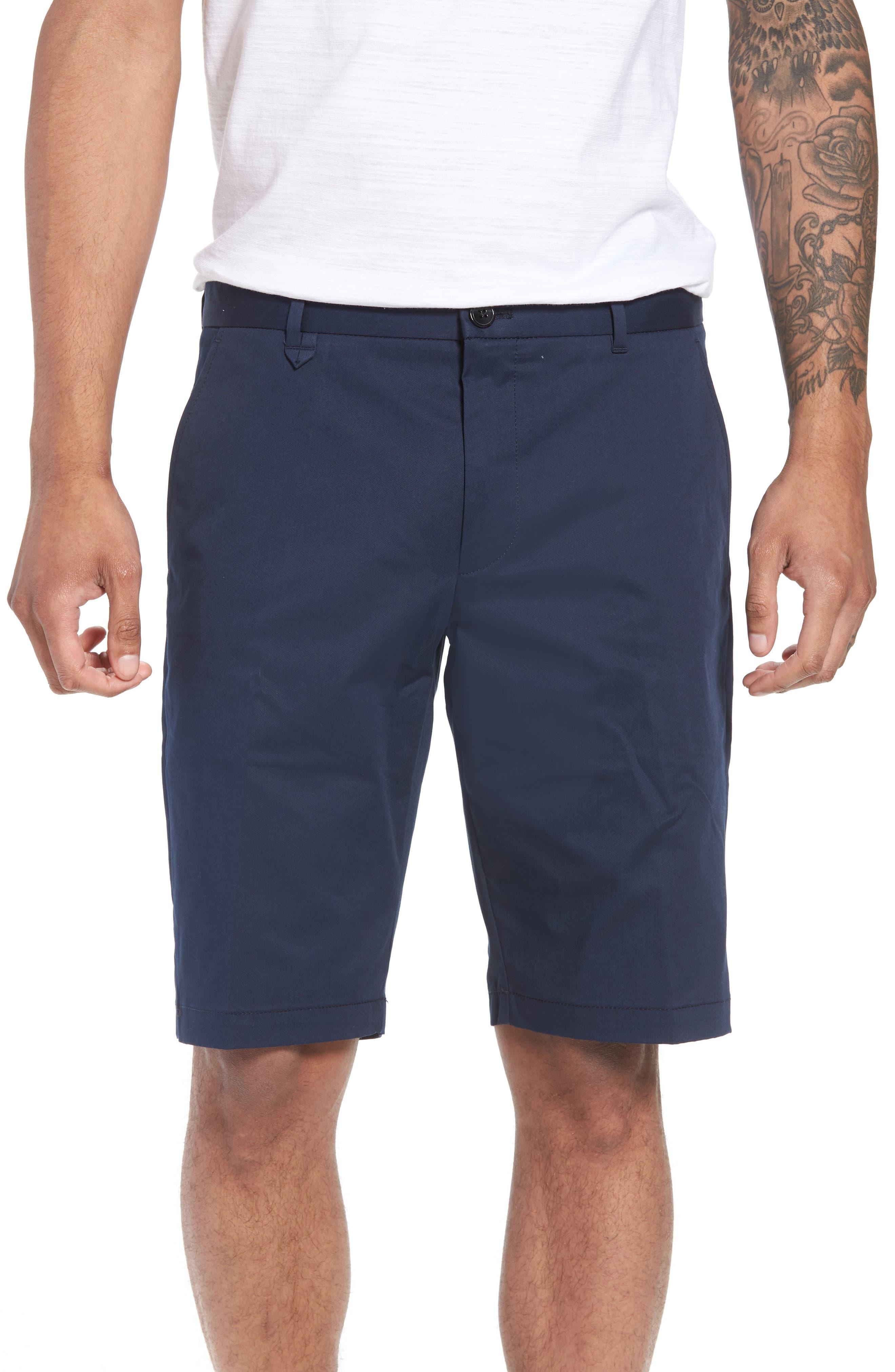 Hano Flat Front Shorts,                         Main,                         color, Blue