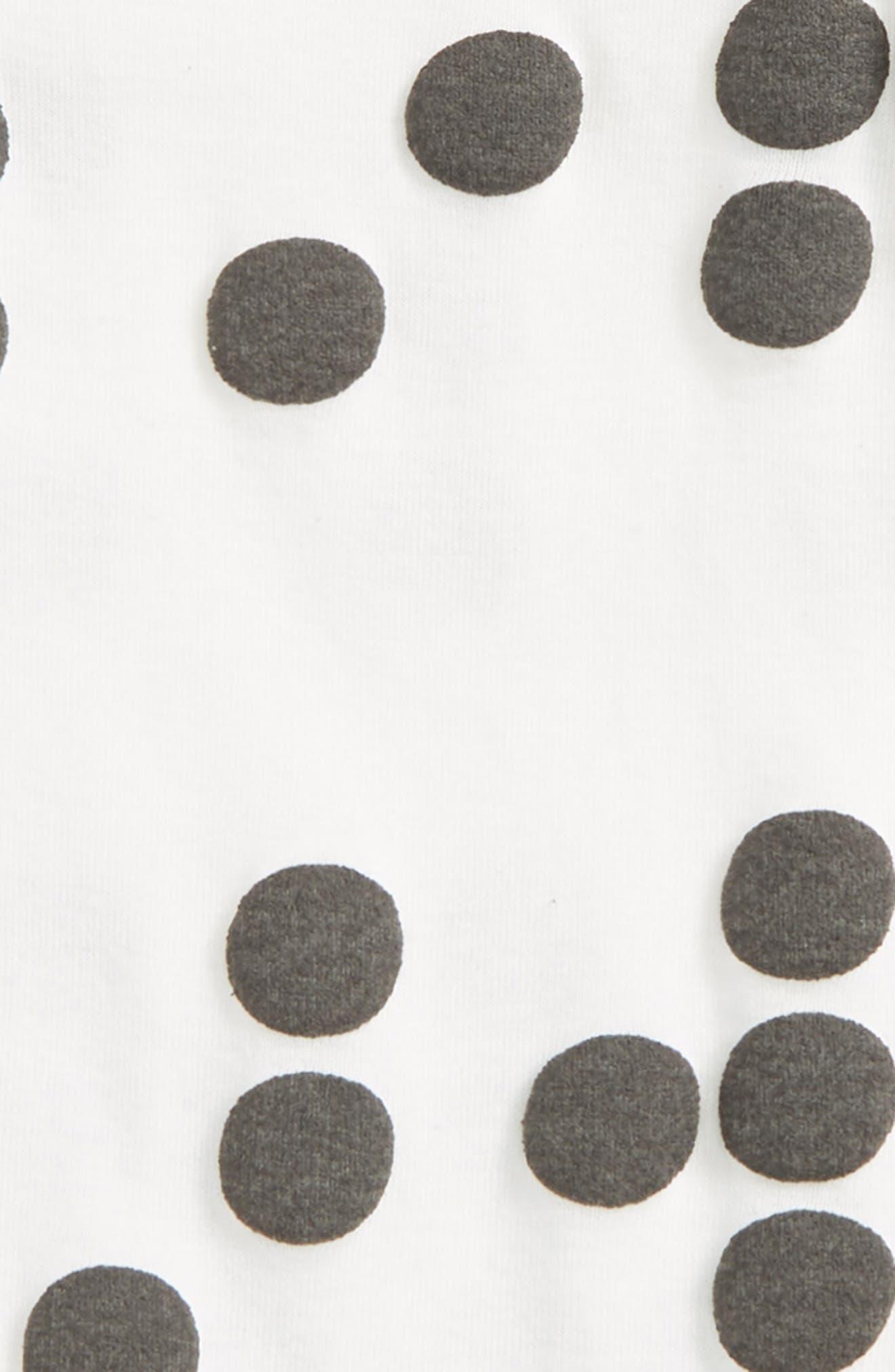 Braille Footie,                             Alternate thumbnail 2, color,                             White