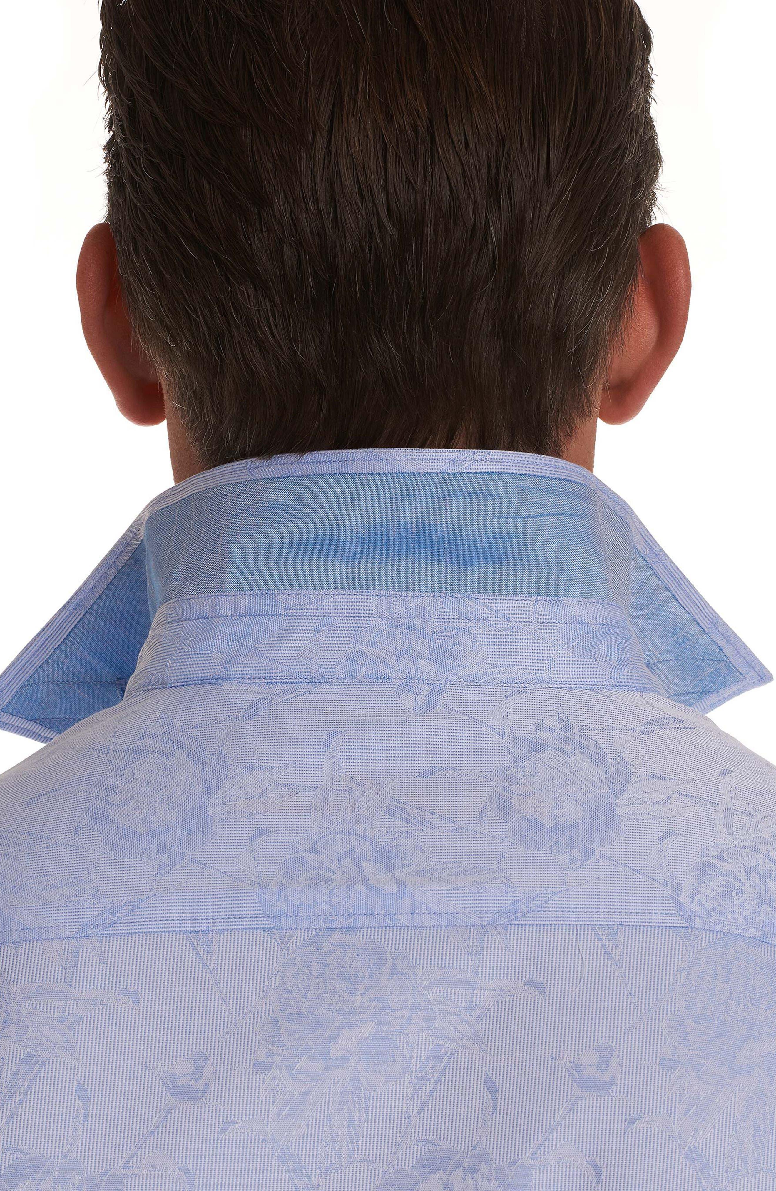 Gilberts Classic Fit Sport Shirt,                             Alternate thumbnail 3, color,                             Light Blue