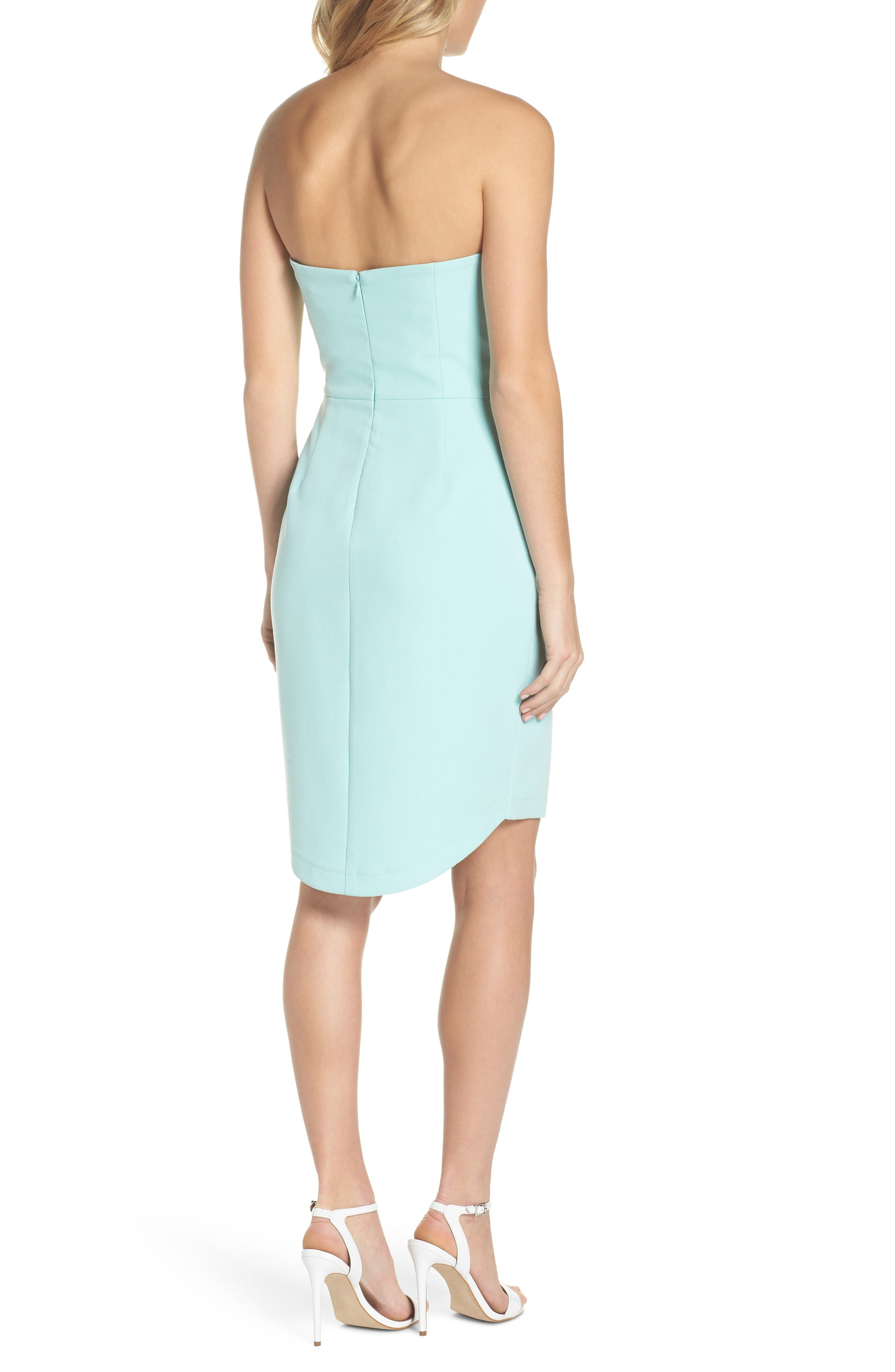 Alternate Image 2  - Adelyn Rae Krissy Twist Front Strapless Dress