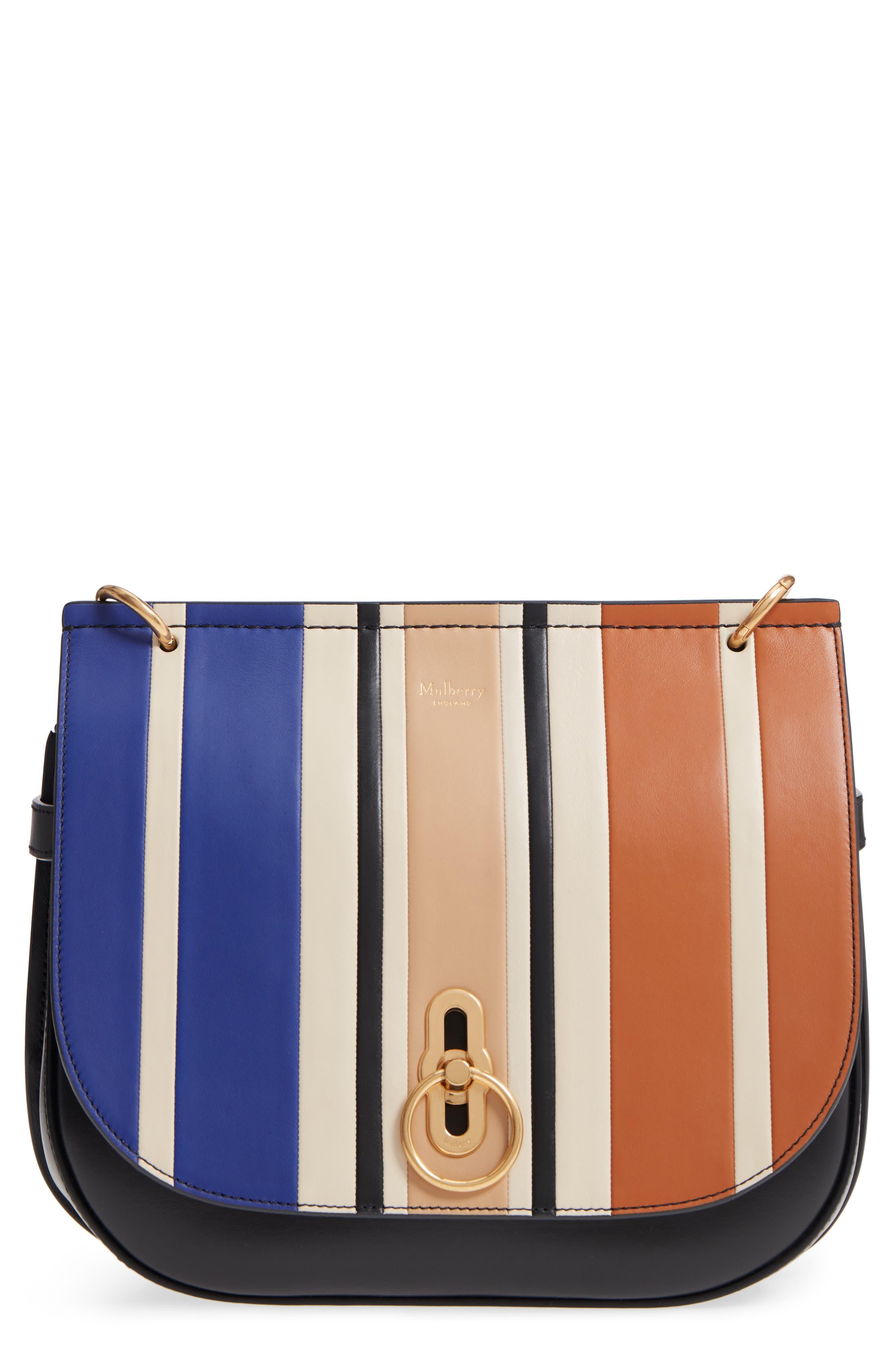 Amberley Colorblock Leather Shoulder Bag - Black