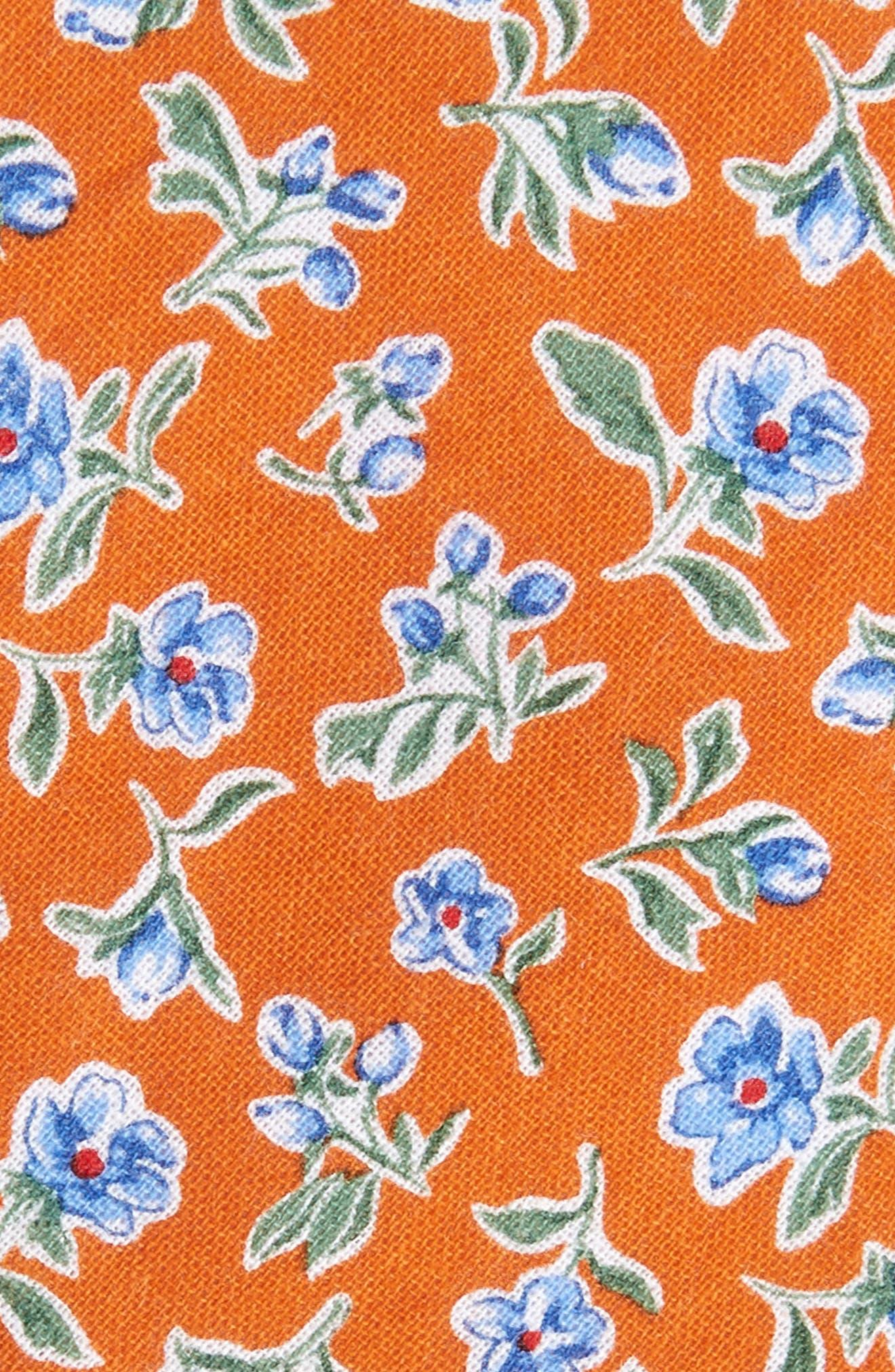 Alternate Image 2  - Nordstrom Men's Shop Kendals Floral Cotton Skinny Tie
