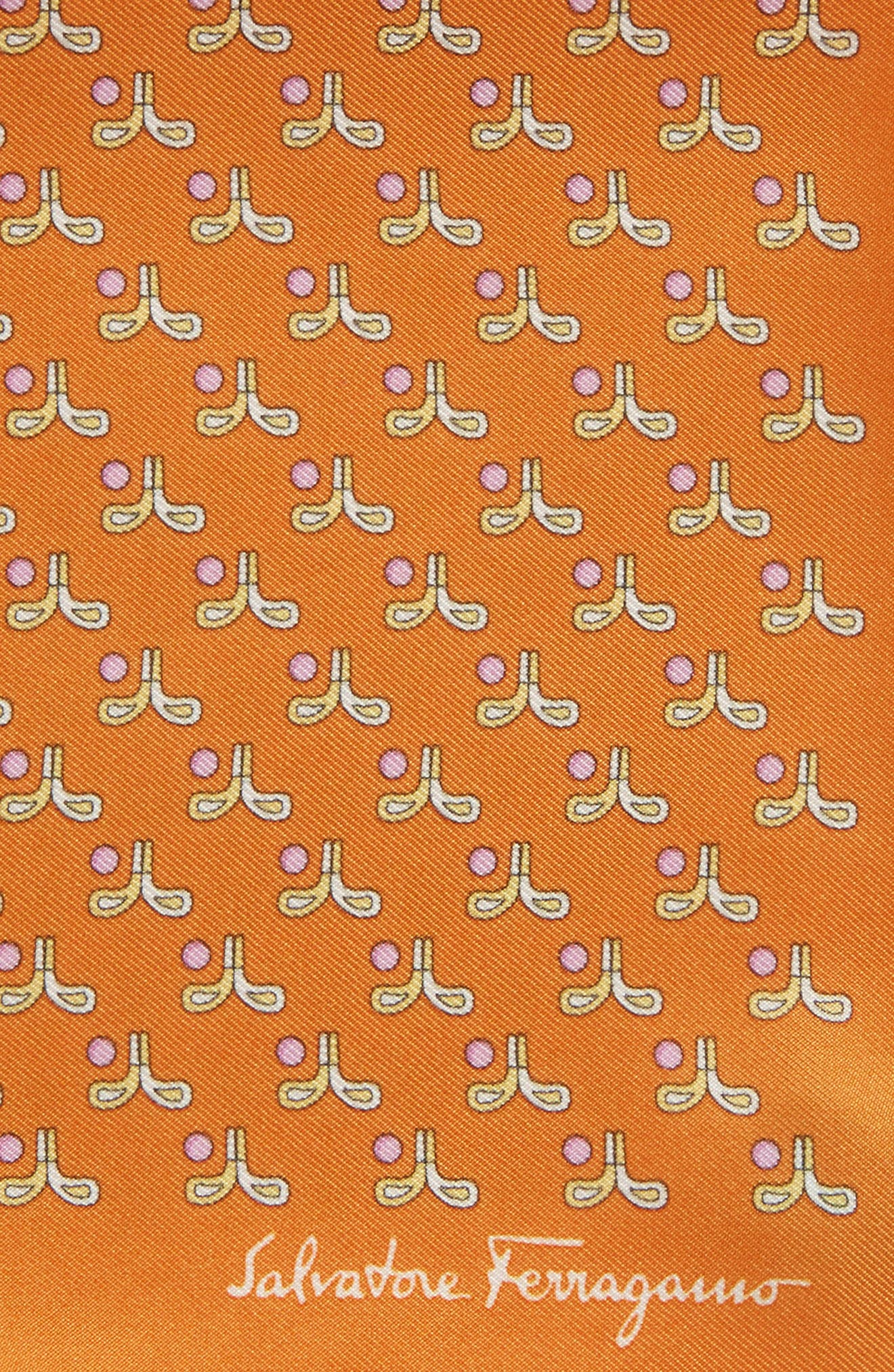 Alternate Image 2  - Salvatore Ferragamo Golf Print Silk Pocket Square