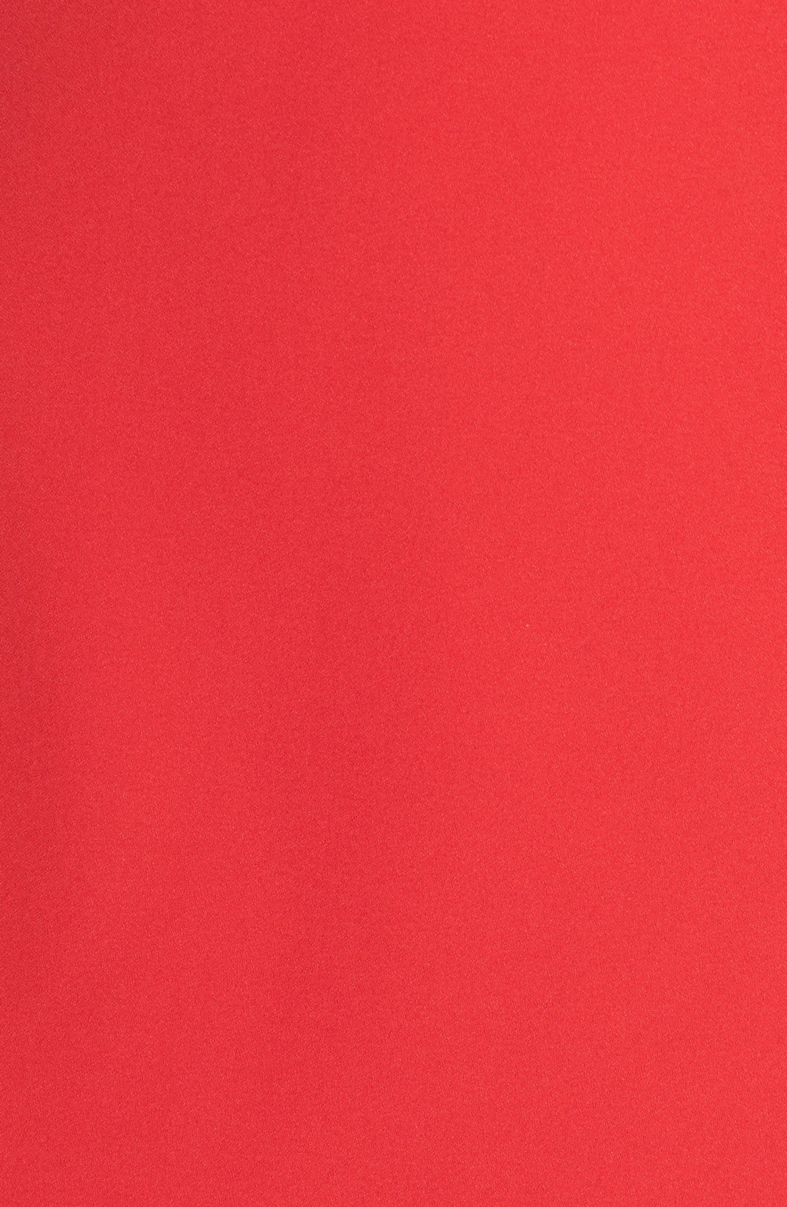 Puff Sleeve Shift Dress,                             Alternate thumbnail 6, color,                             Red Festive
