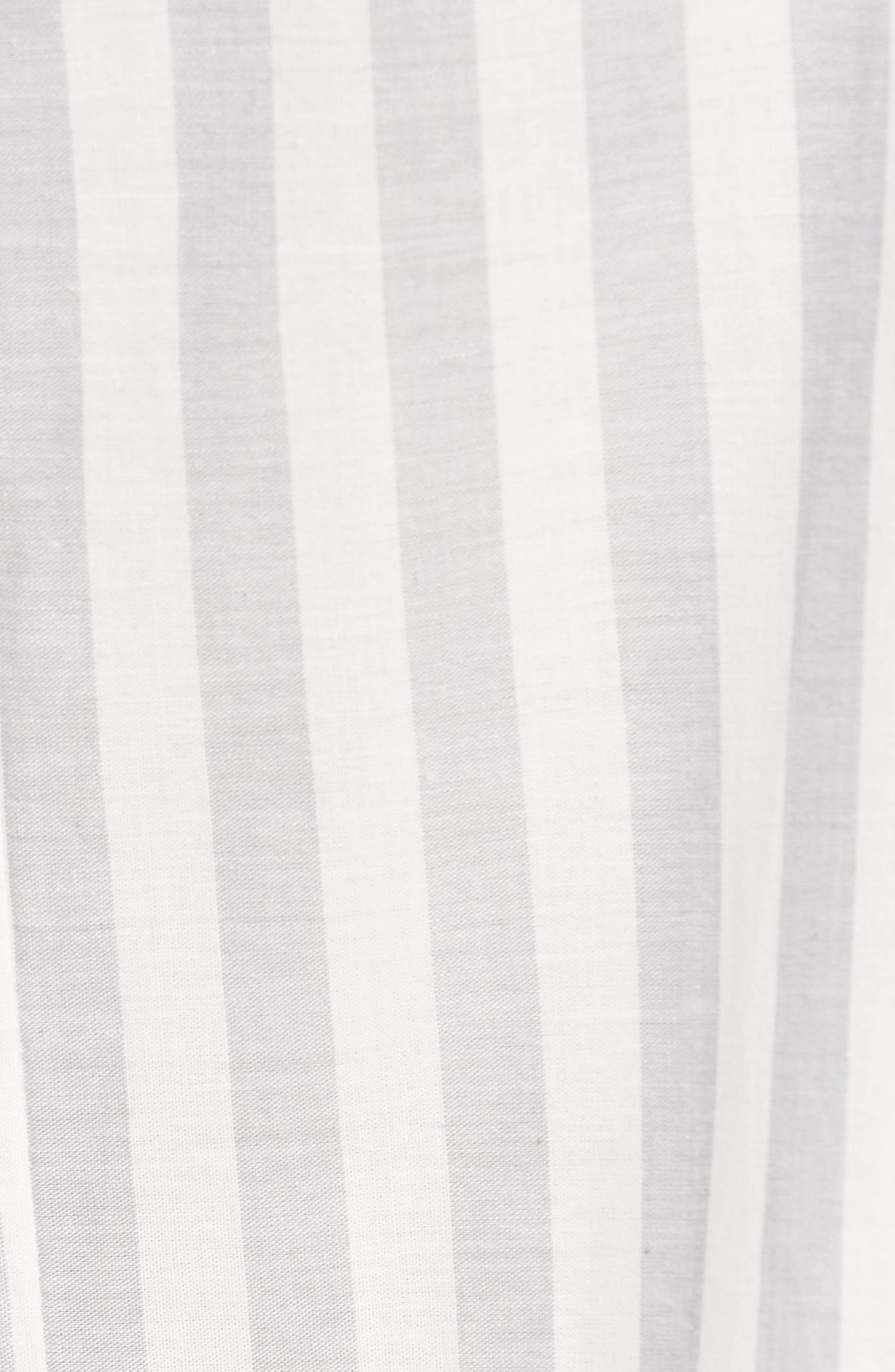 Wide Turn Up Stripe Trouser,                             Alternate thumbnail 7, color,                             Light Grey