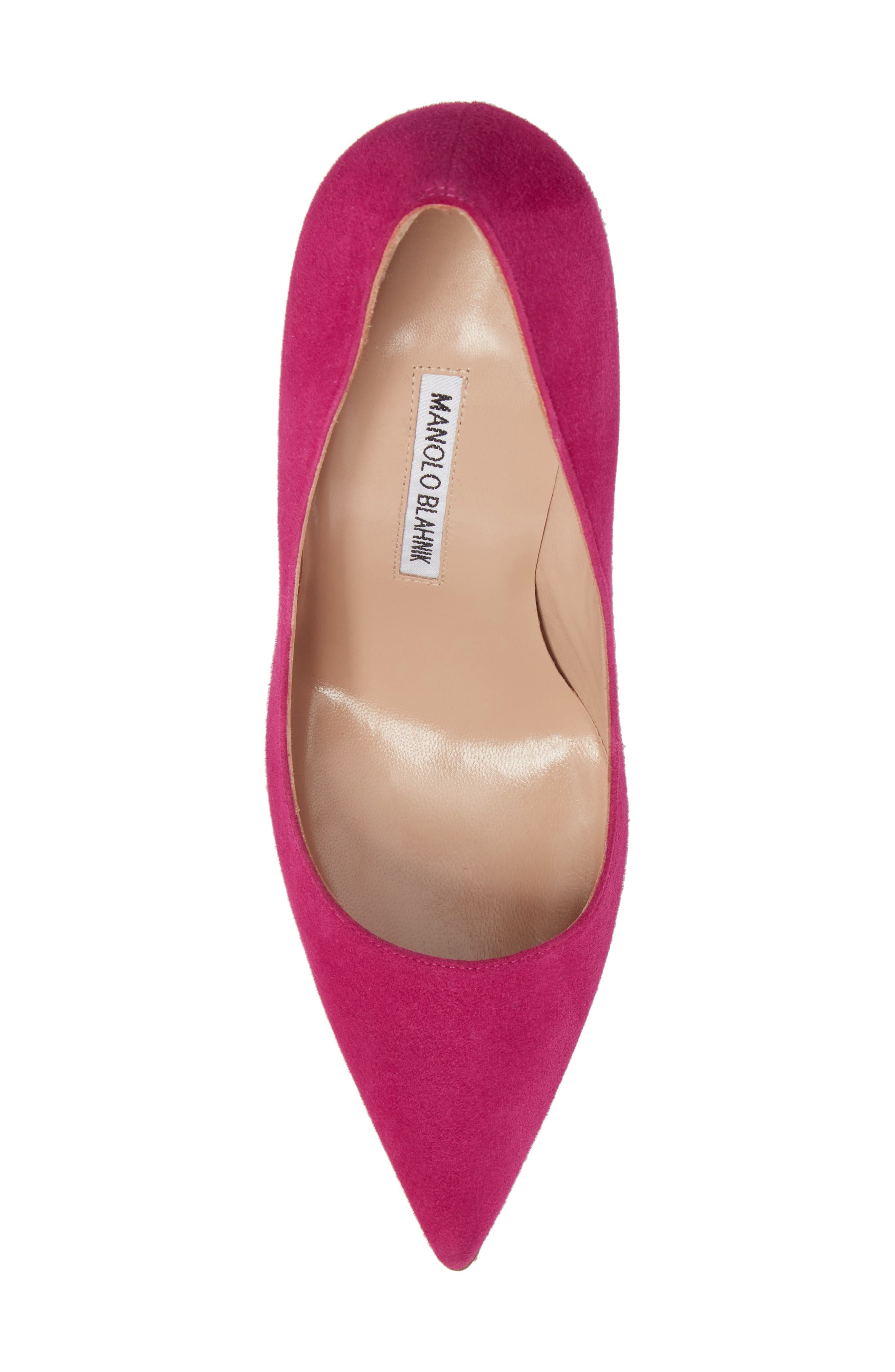 'BB' Pointy Toe Pump,                             Alternate thumbnail 5, color,                             Magenta