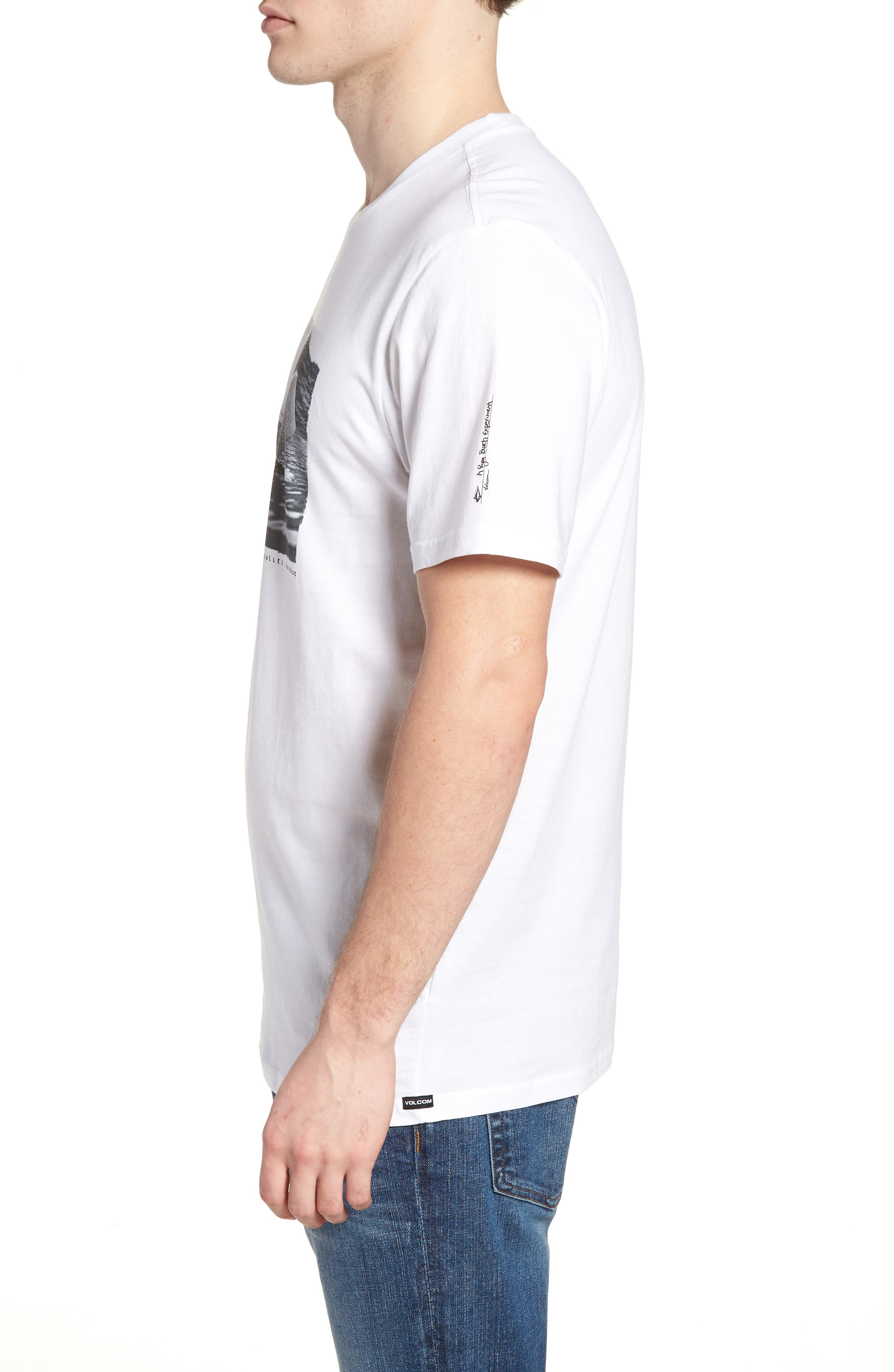 Burch Foam Graphic T-Shirt,                             Alternate thumbnail 3, color,                             White