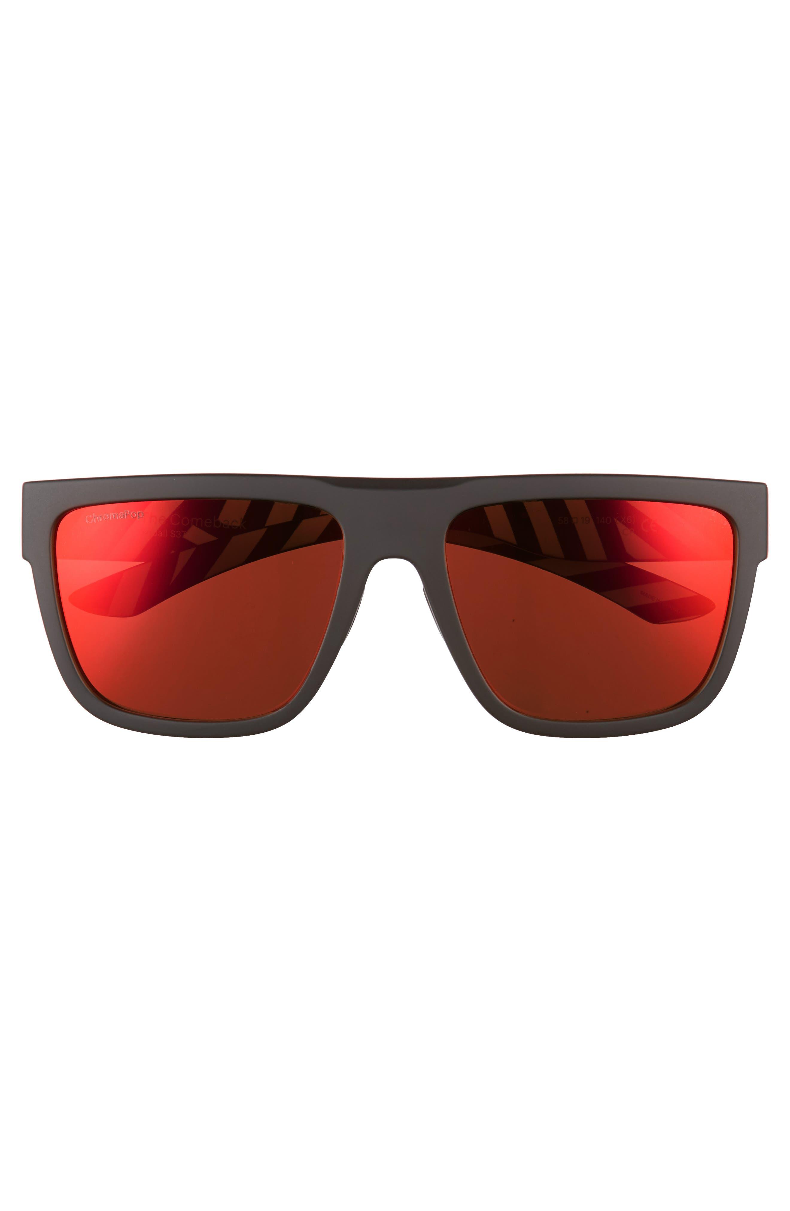 The Comeback 58mm ChromaPop<sup>™</sup> Square Sunglasses,                             Alternate thumbnail 3, color,                             Squall