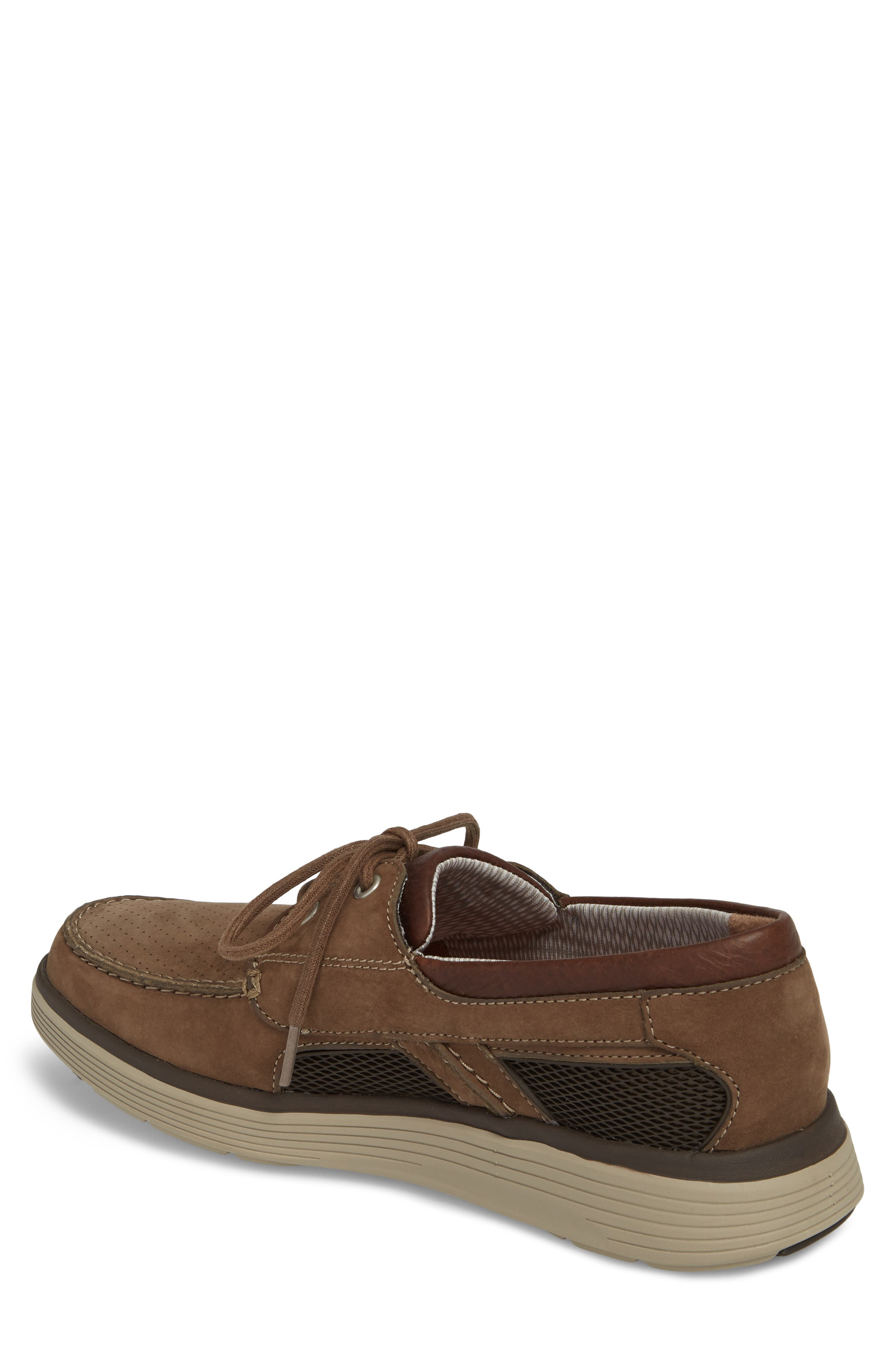 Clarks<sup>®</sup> Unabobe Step Boat Shoe,                             Alternate thumbnail 2, color,                             Olive Nubuck