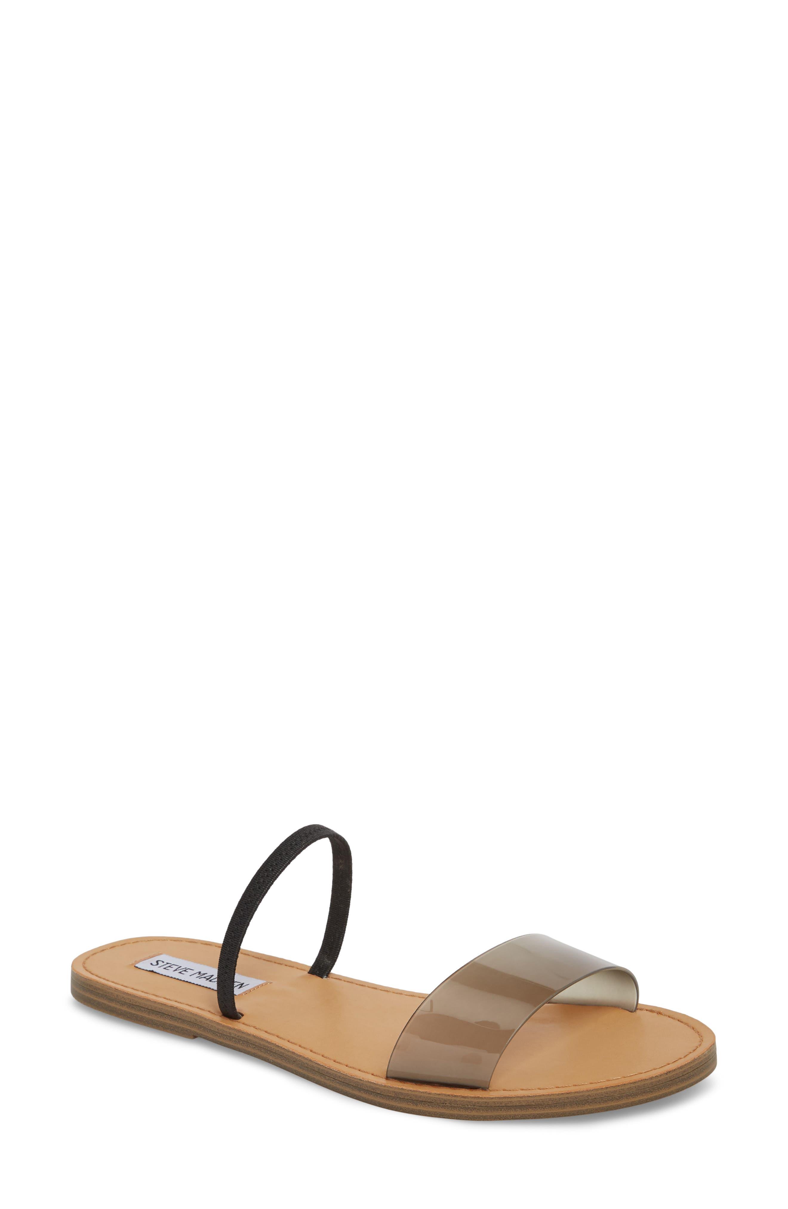 Dasha Strappy Slide Sandal,                             Main thumbnail 1, color,                             Smoke