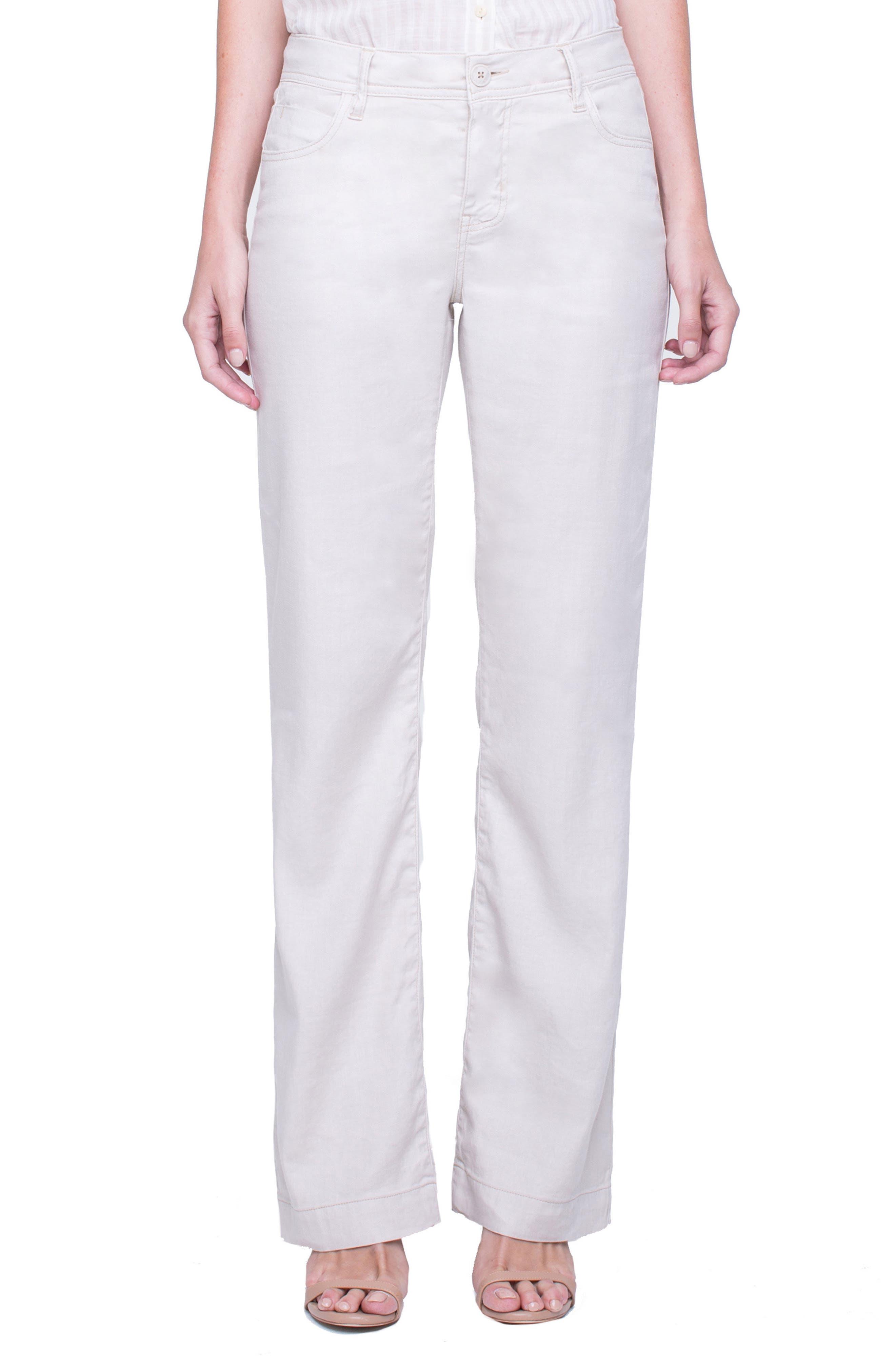 Liverpool Jeans Company Emma Stretch Linen Pants