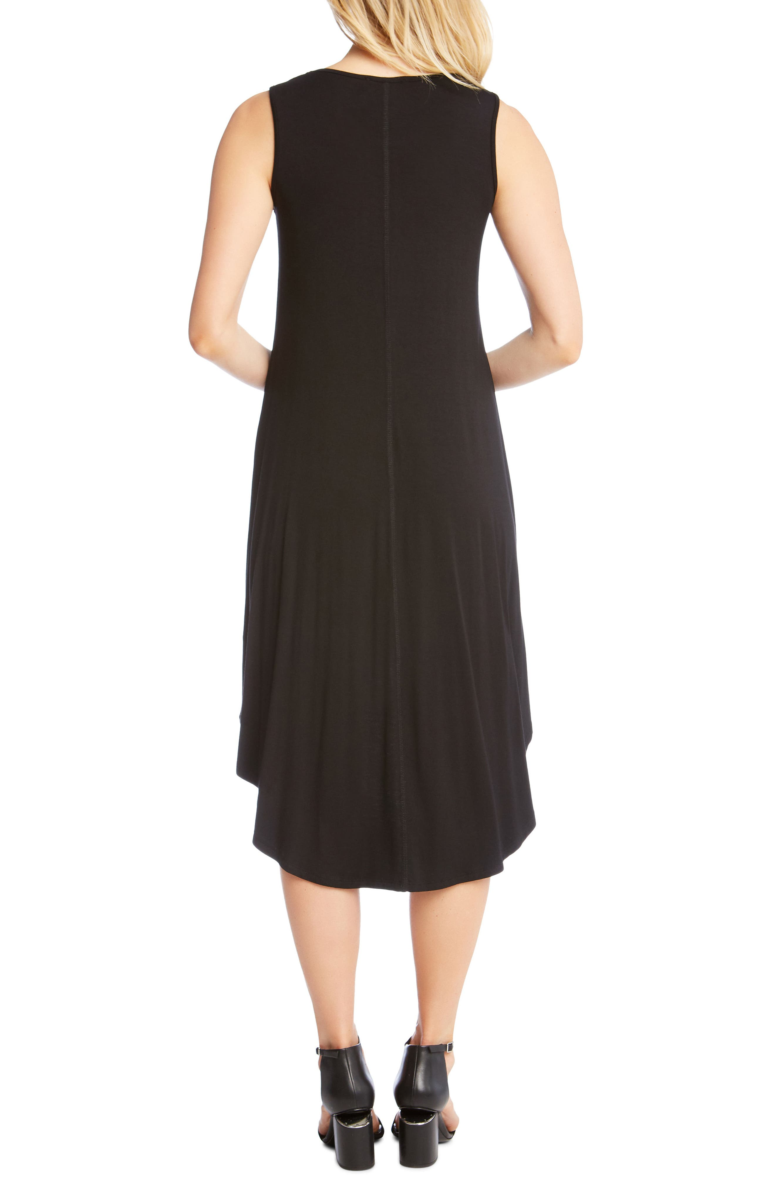 Charlie High/Low Stretch Jersey Dress,                             Alternate thumbnail 2, color,                             Black