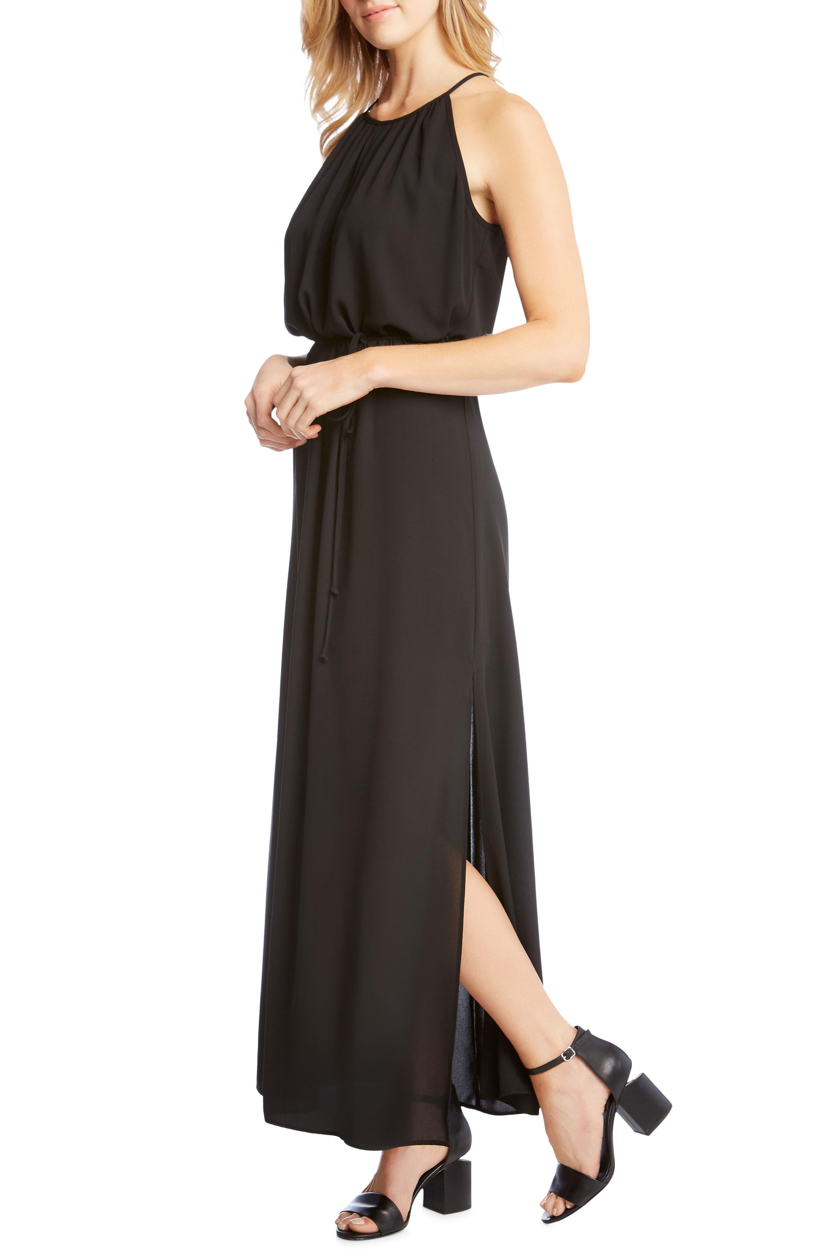 Alternate Image 3  - Karen Kane Morgan Halter Maxi Dress