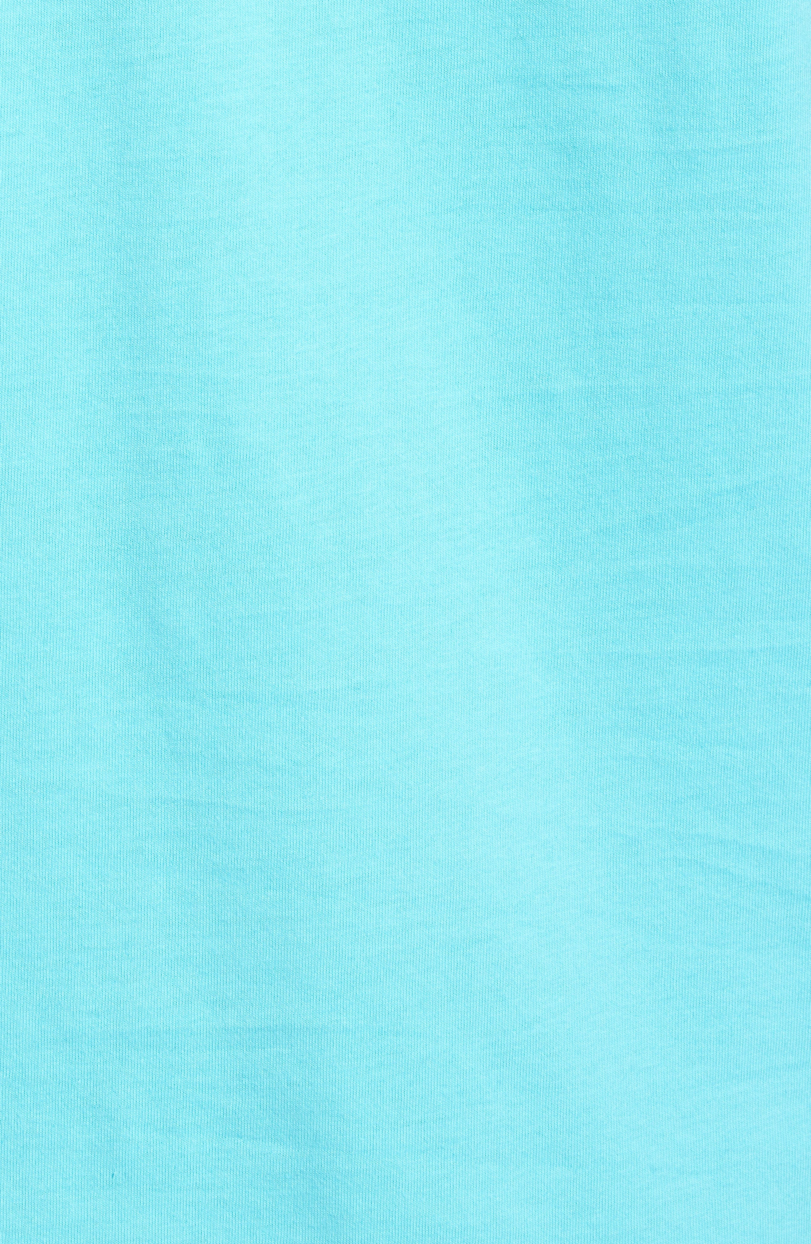 Marlin out of Water Whale Fill Pocket T-Shirt,                             Alternate thumbnail 5, color,                             Turquoise